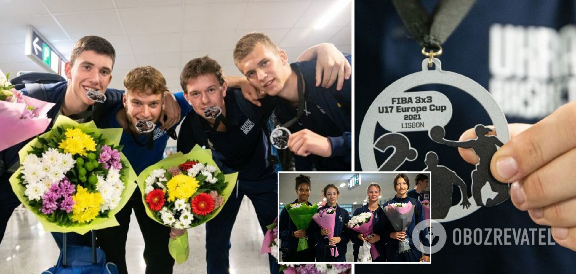 В Киеве встретили призеров юношеского чемпионата Европы по баскетболу 3х3
