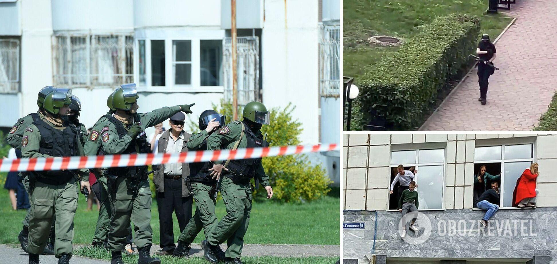Силовики открыли ответный огонь: момент нейтрализации стрелка в Перми попал на видео