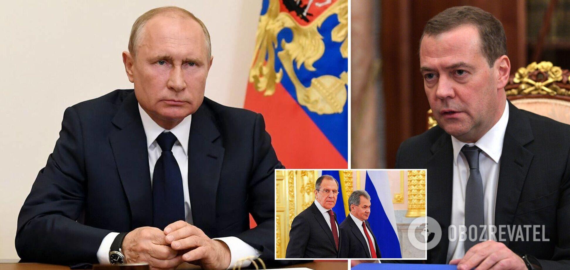 Медведев заболел, Путин на самоизоляции, а Лавров и Шойгу не явились в штаб партии – СМИ