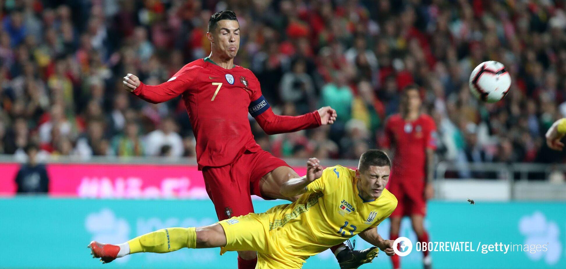 Миколенко проти Роналду в матчі Україна Португалія відбір на Євро-2020