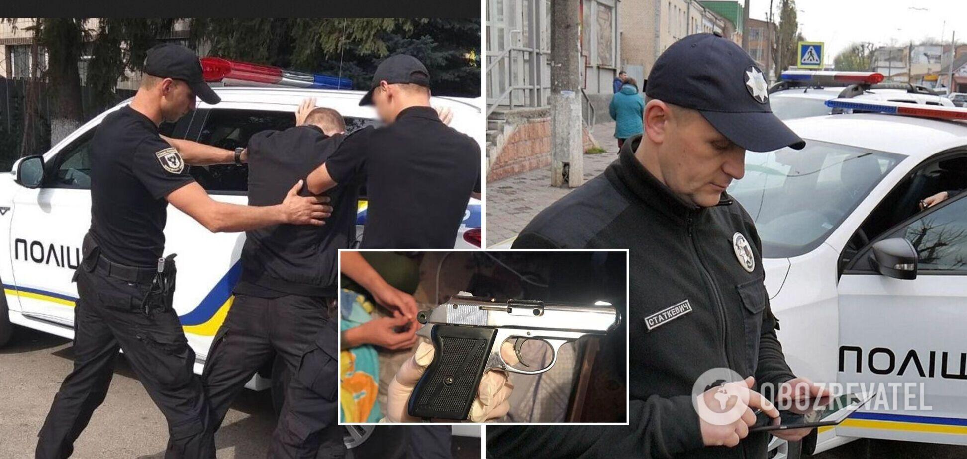 В Хмельницком устроили стрельбу из окна квартиры: полиция установила злоумышленников. Фото