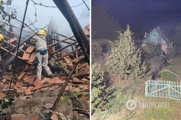 На Запорожье взрывом разнесло жилой дом, мужчина получил ожоги 65% тела. Фото