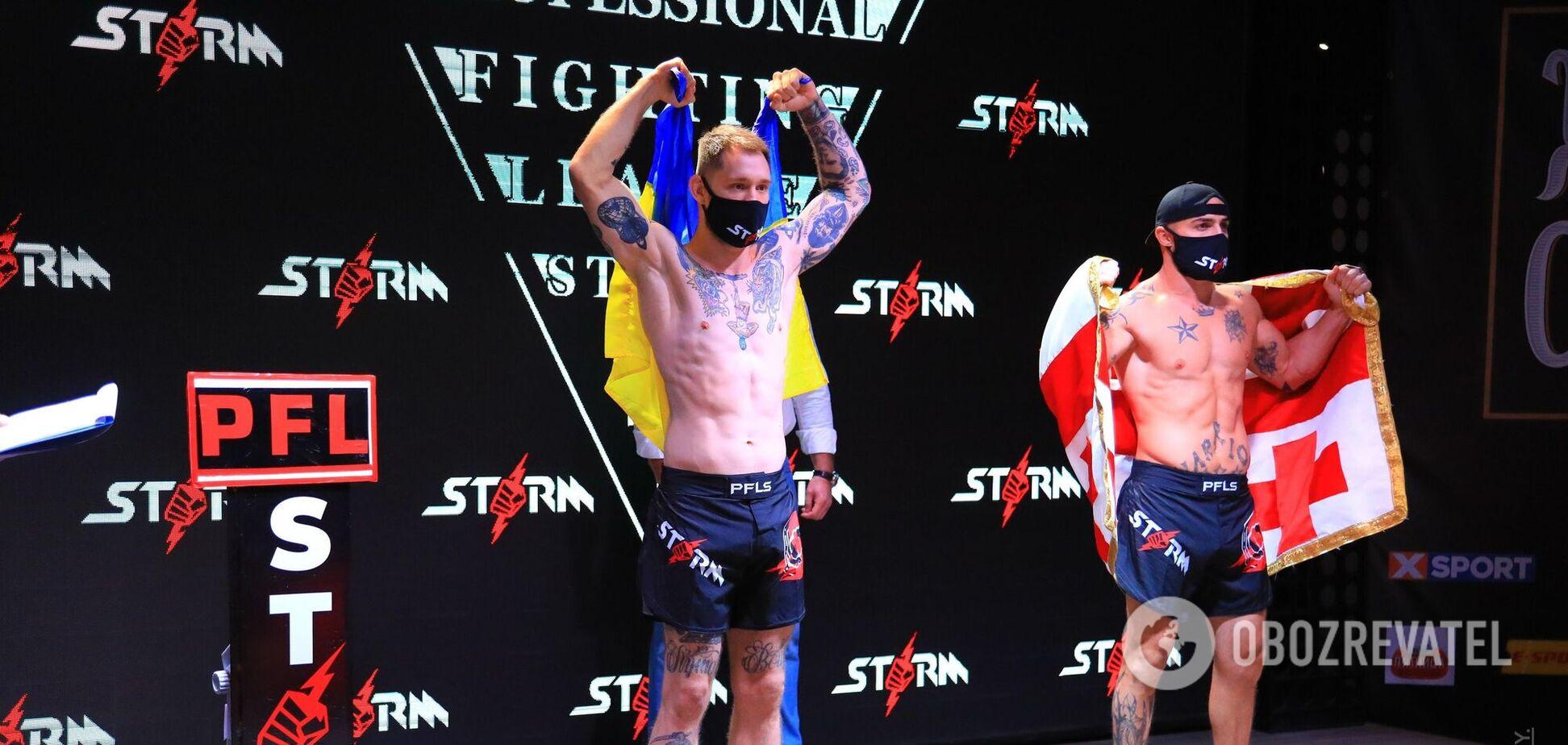 12 боев, много крови и презентация промоушена: впервые в Кременчуге прошел международный турнир ММA 'Fighting Night Storm'