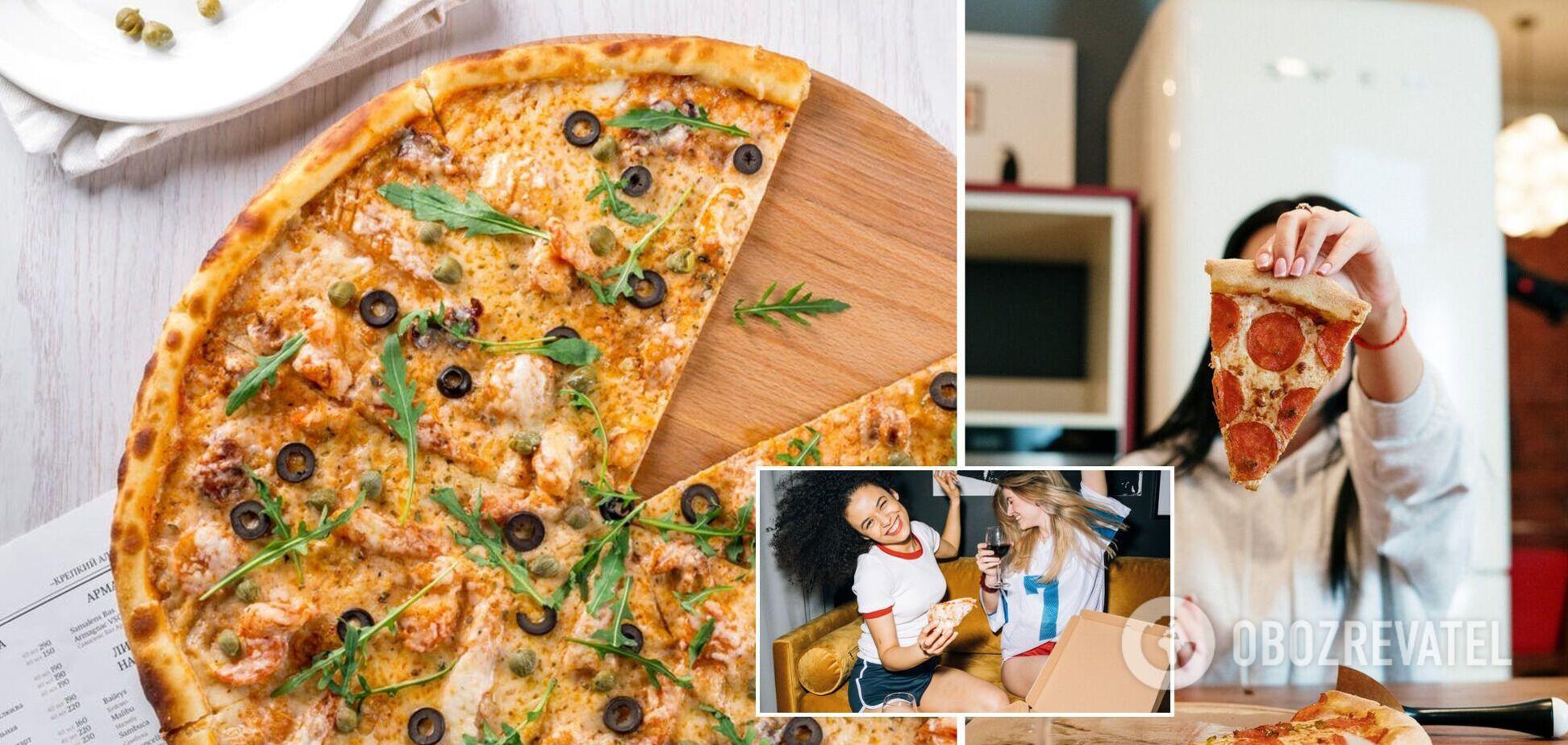 Піца на сковорідці з двох видів тіста нашвидкуруч