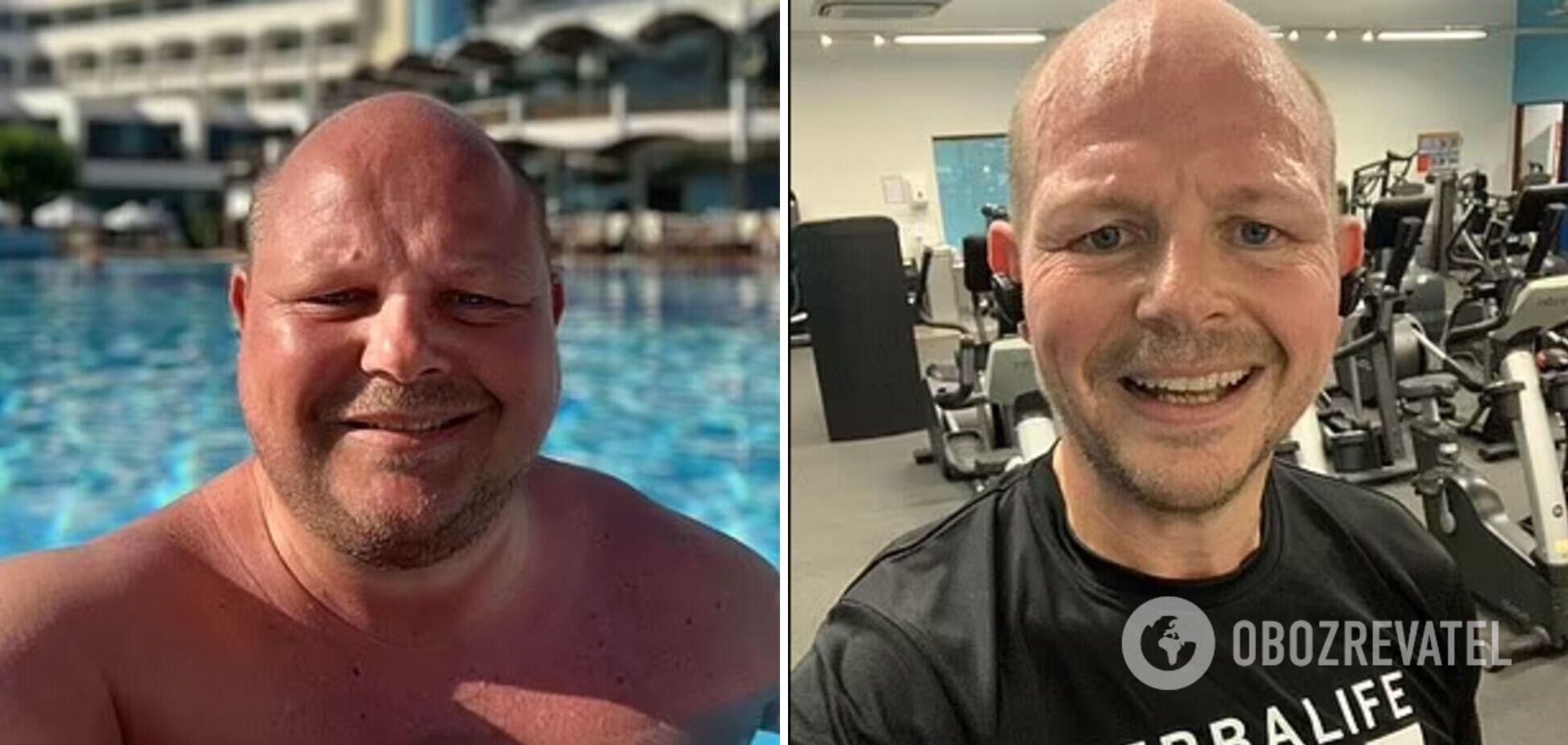 Мужчина сбросил 43 килограмма и не узнал себя. Фото до и после