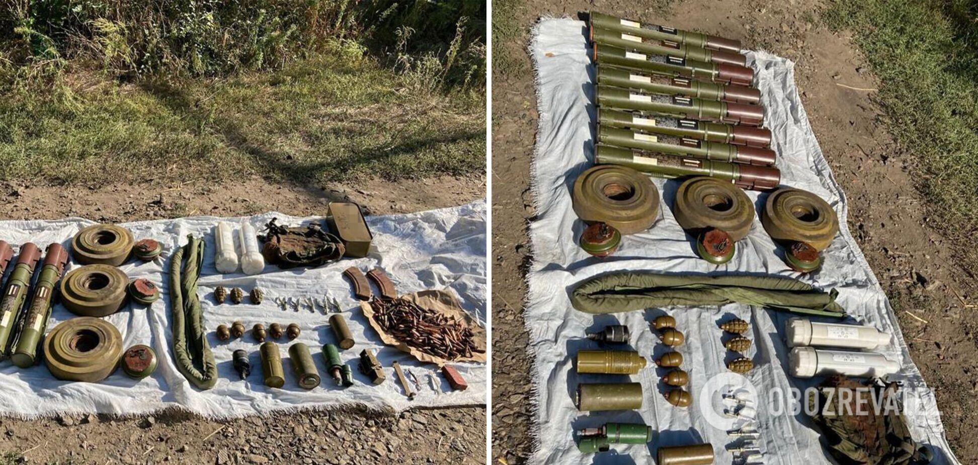 СБУ предотвратила диверсию на Донбассе, схрон с взрывчаткой нашли вблизи железнодорожной станции. Фото