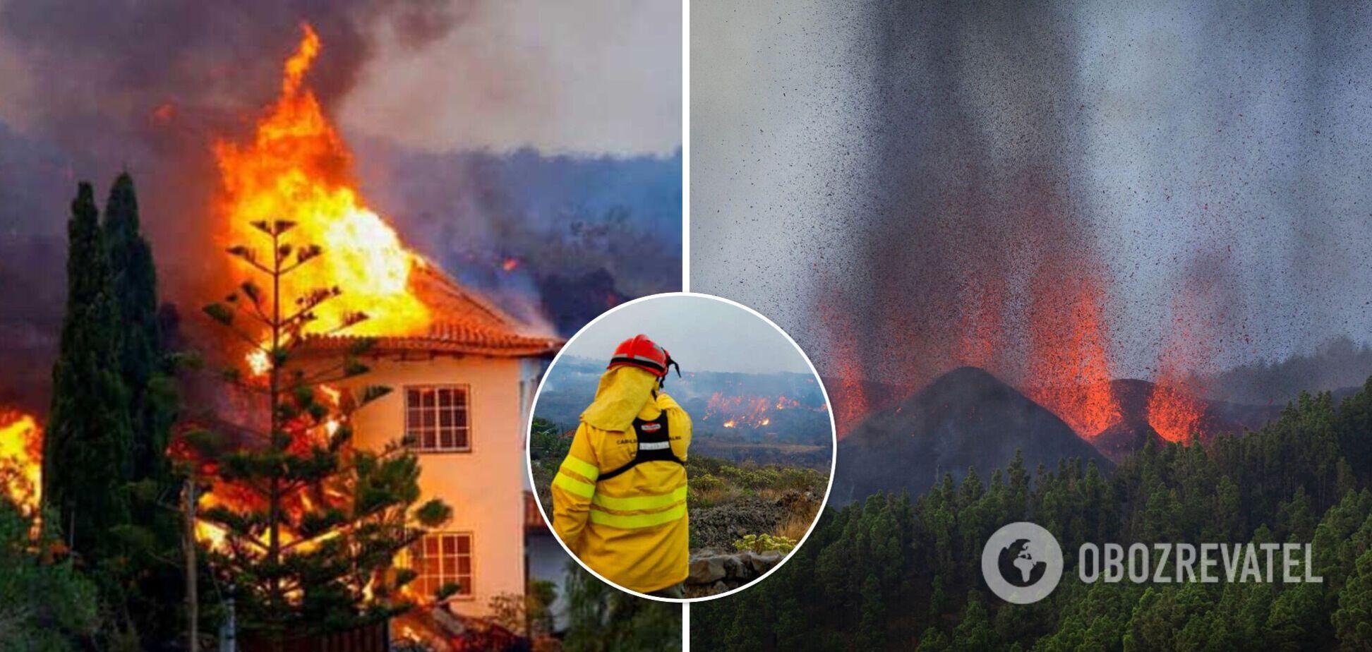 Виверження вулкана на Канарських островах зруйнувало сотню будинків, люди рятуються втечею. Фото і відео
