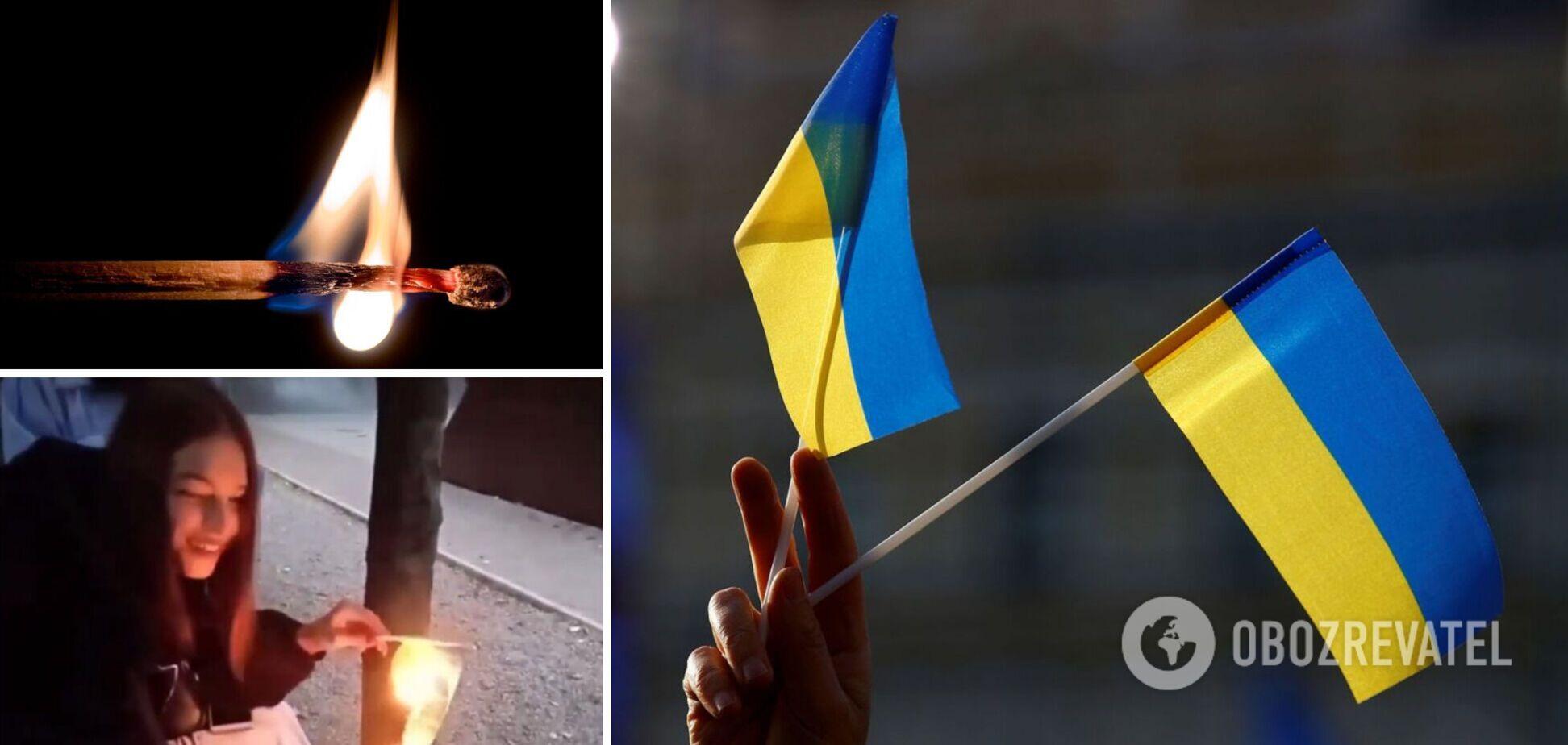 Скандал з українським прапором