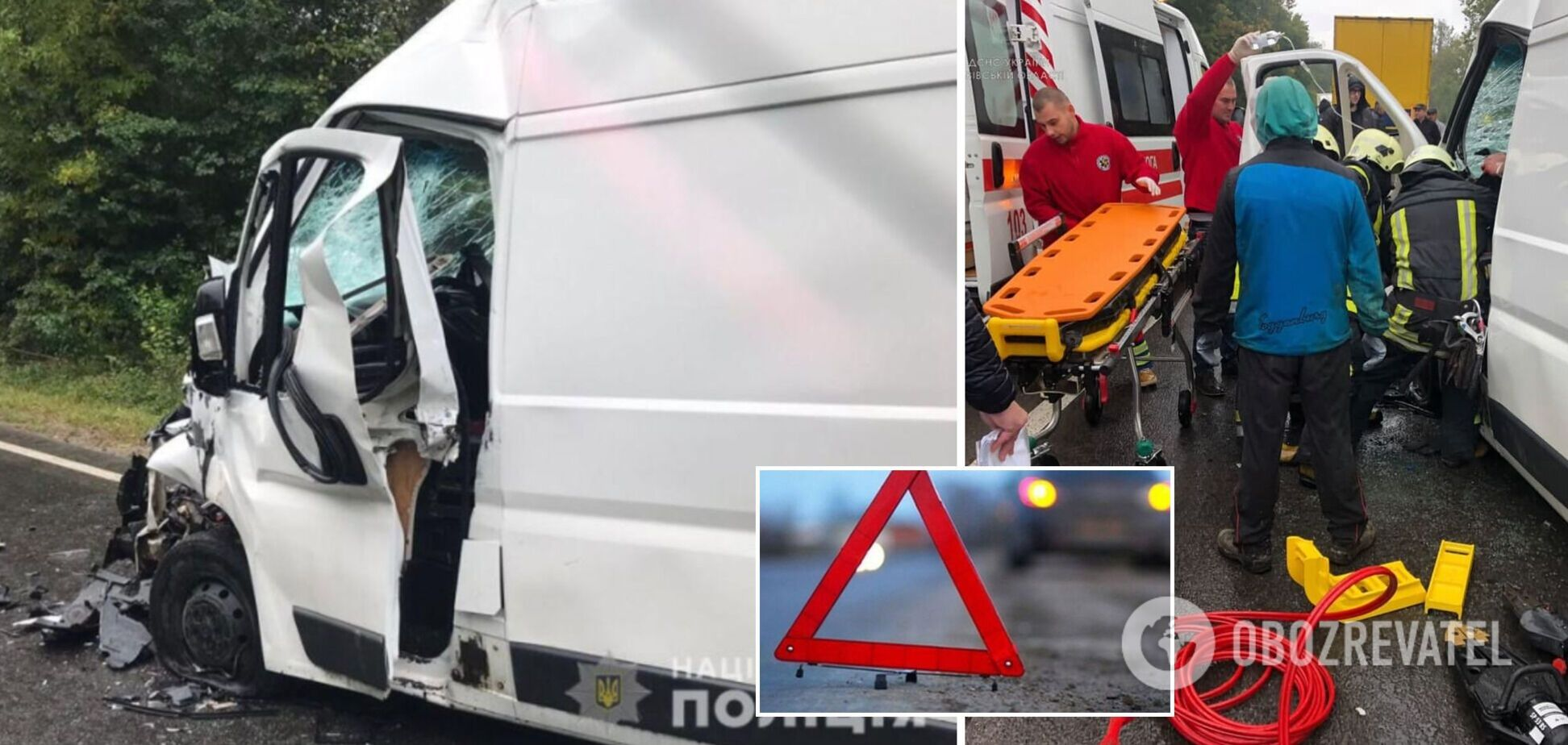 На Львовщине Fiat на скорости влетел в грузовик, водителя зажало в авто. Фото