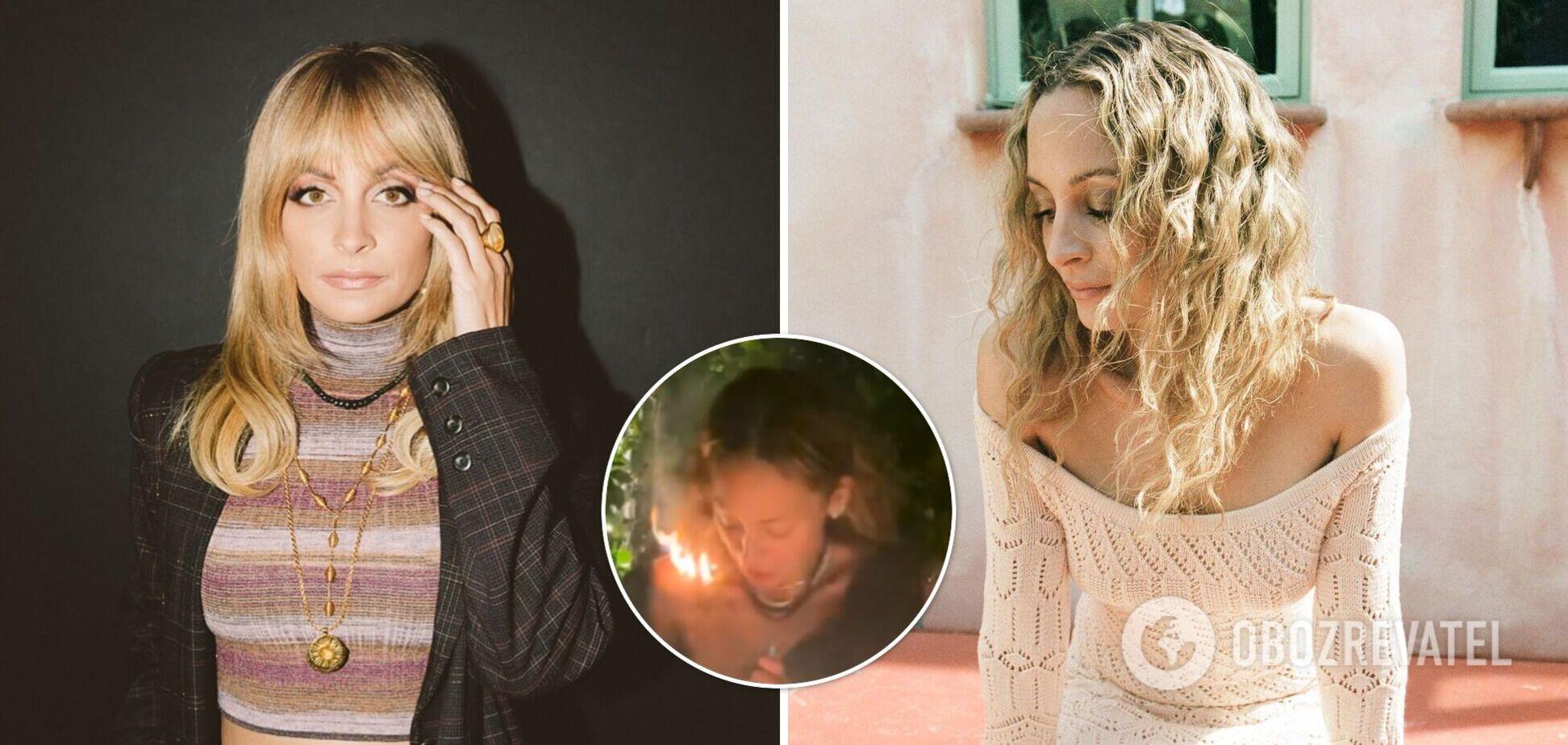 Акторка Ніколь Річі підпалила собі волосся на дні народження. Відео