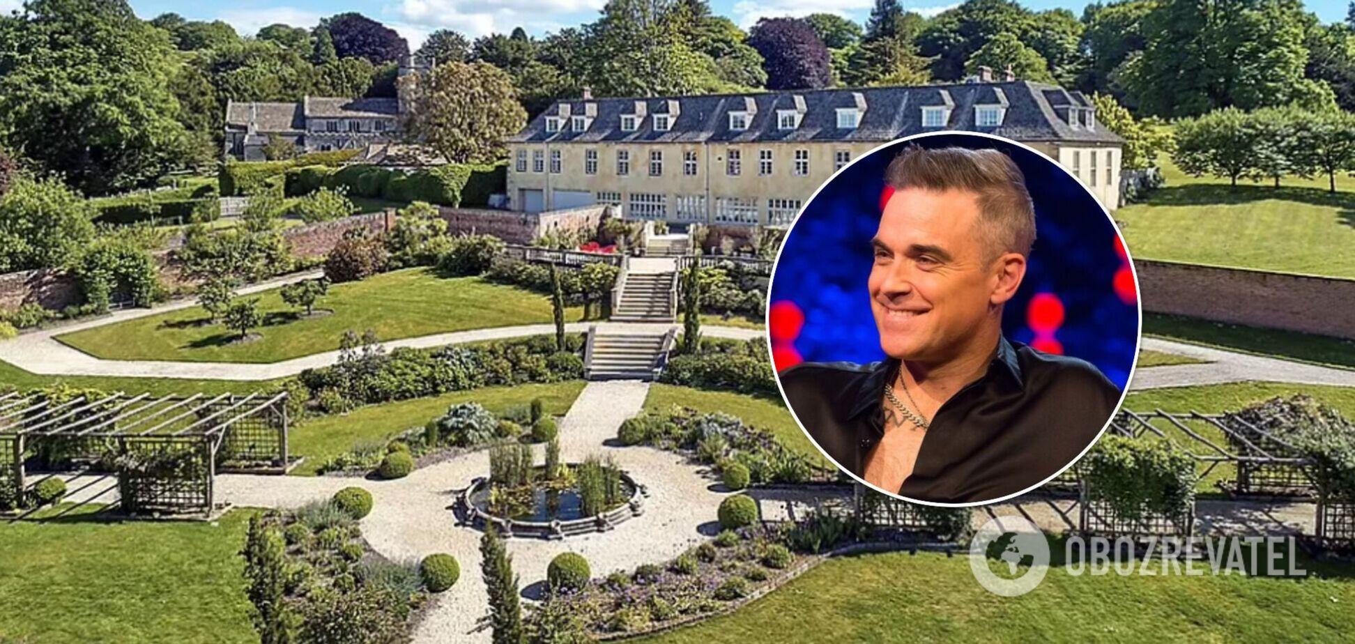 Робби Уильямс продает легендарный особняк почти за 10 млн долларов: как он выглядит изнутри. Фото