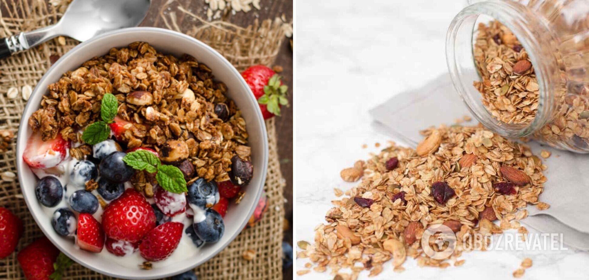 Гранола – смачна альтернатива вівсянки