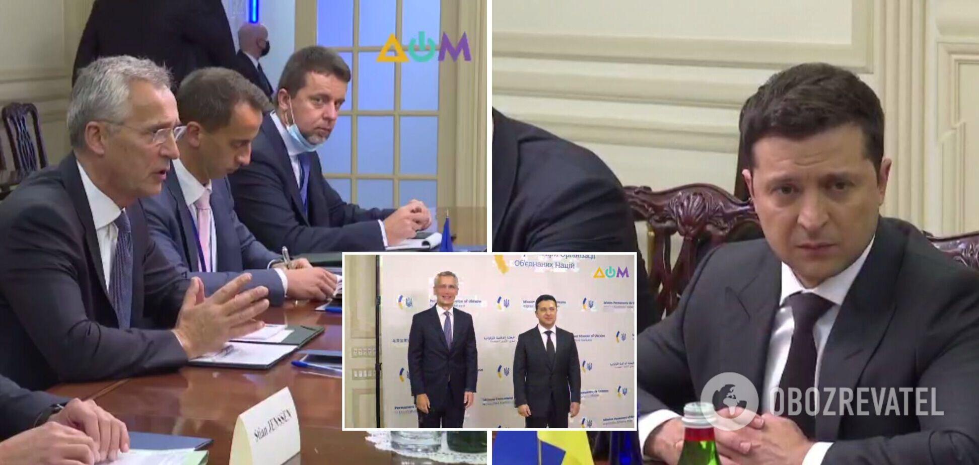 Зустріч президента України з генсеком НАТО