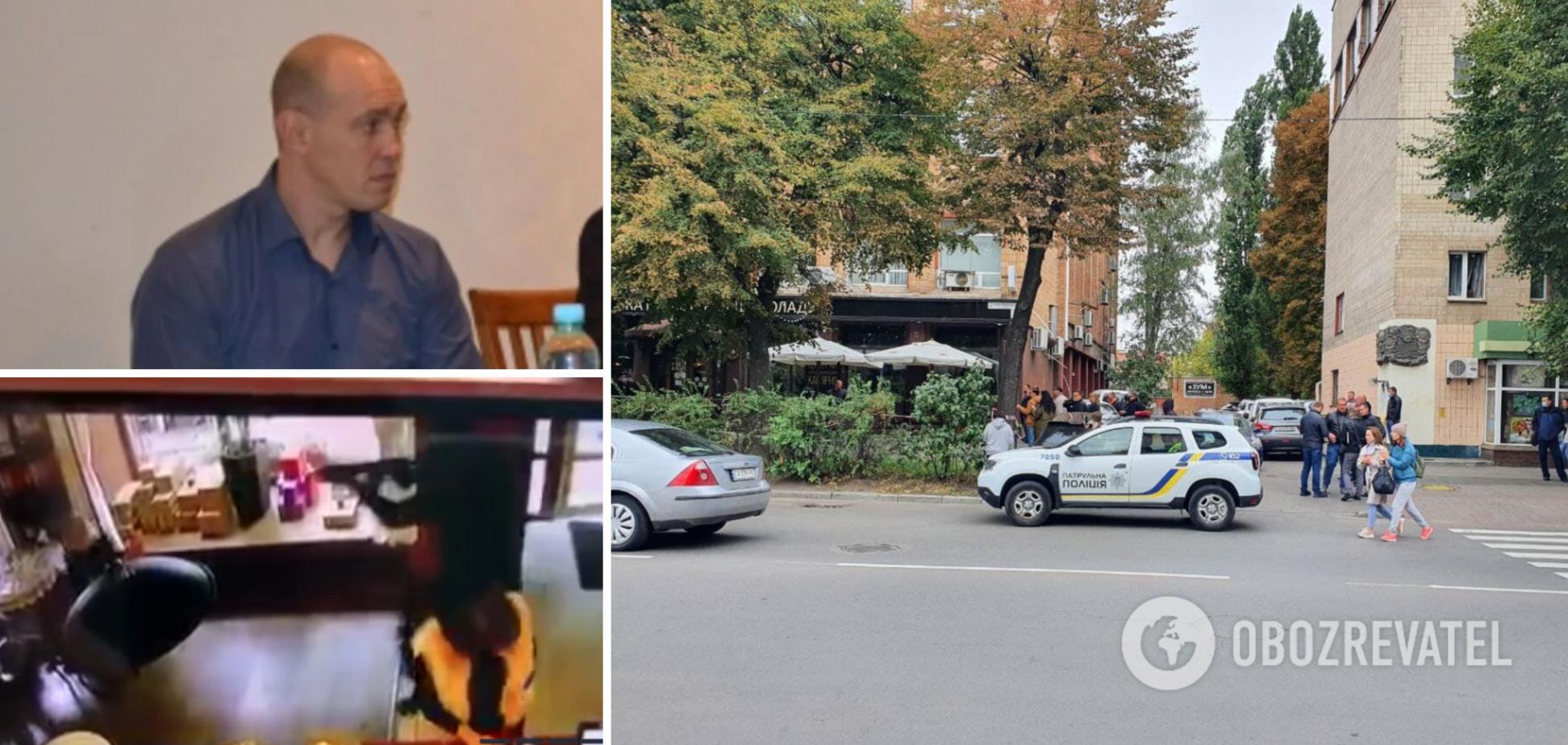 Расстрел бизнесмена в Черкассах попал на видео: появились записи камер наблюдения из кафе