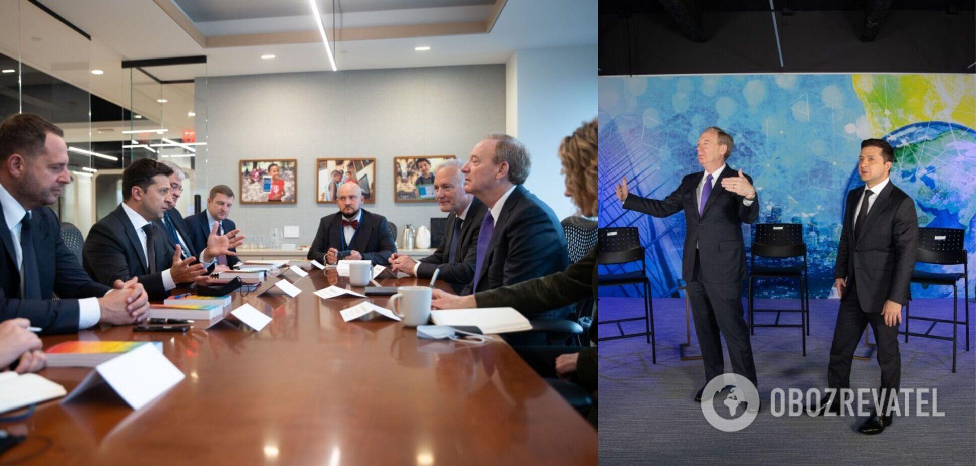 Зеленский обсудил с главой Microsoft создание дата-центра в Украине и систему е-голосования