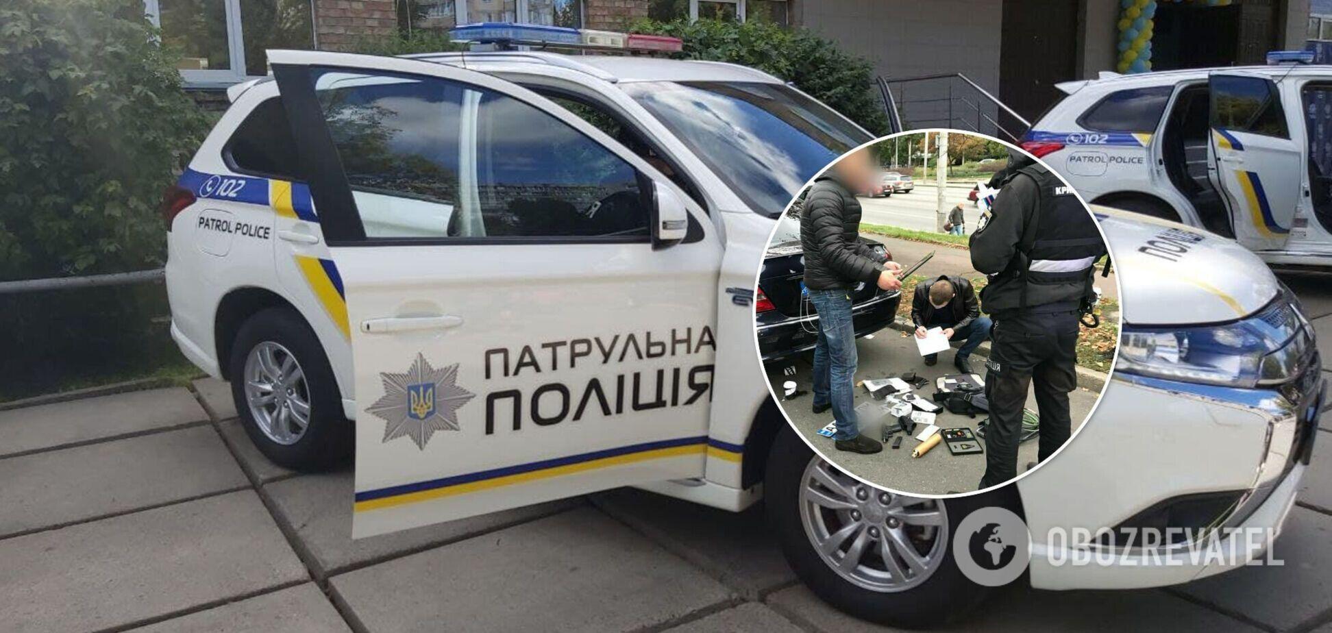 Машину зупинили в Печерському районі столиці
