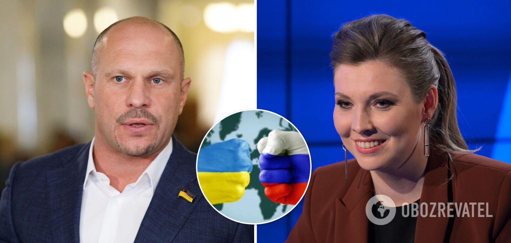 Кива на шоу Скабєєвої повторив пропагандистську тезу Путіна про 'один народ'. Відео