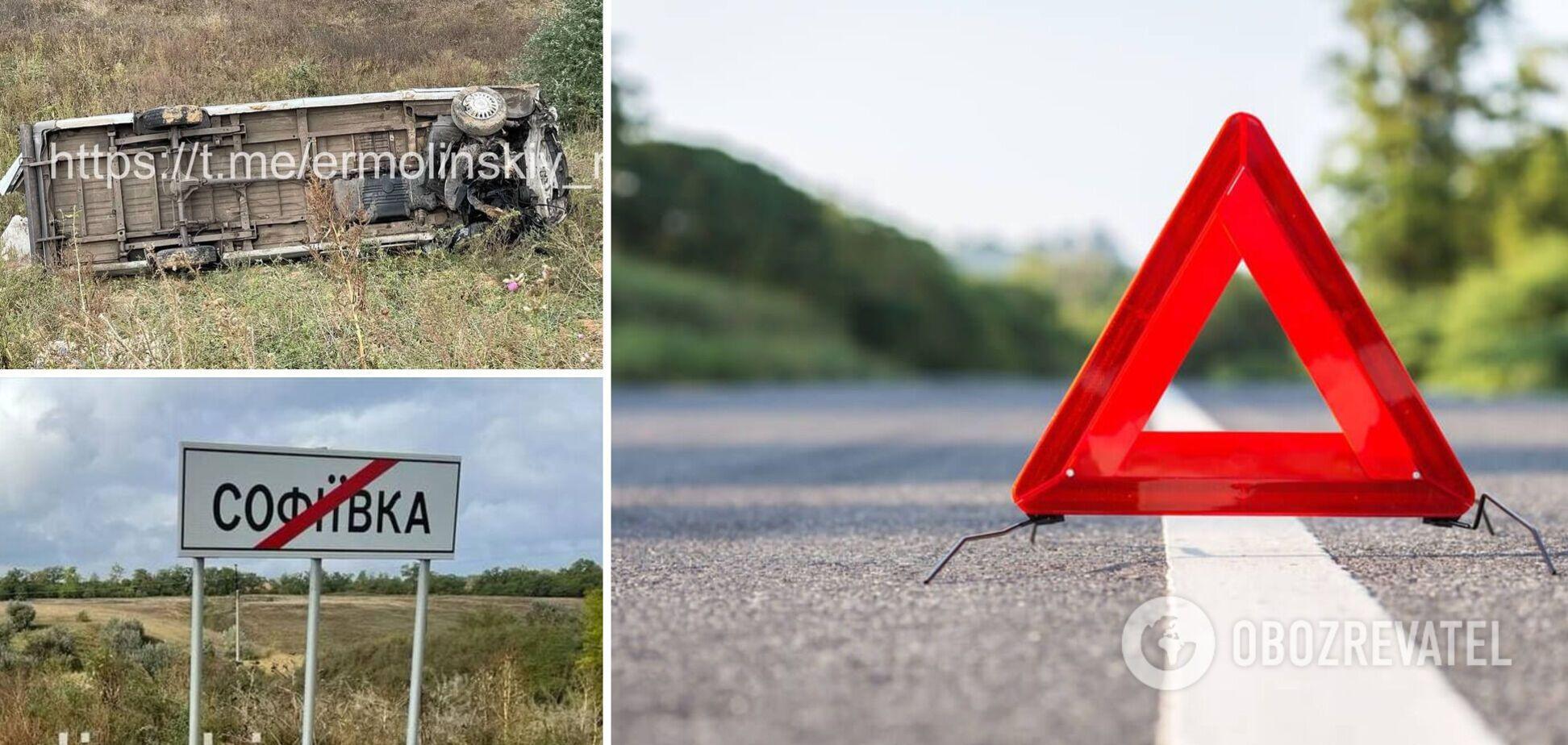 На Дніпропетровщині мікроавтобус вилетів у кювет, водій загинув на місці. Фото
