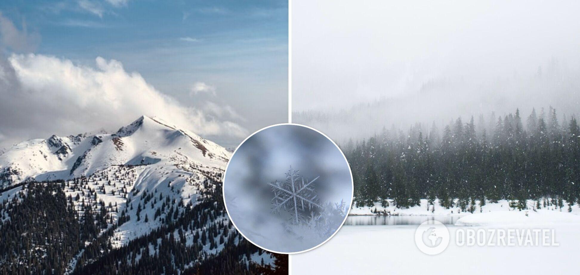 Карпаты продолжает засыпать снегом, ударил мороз до -5. Фото