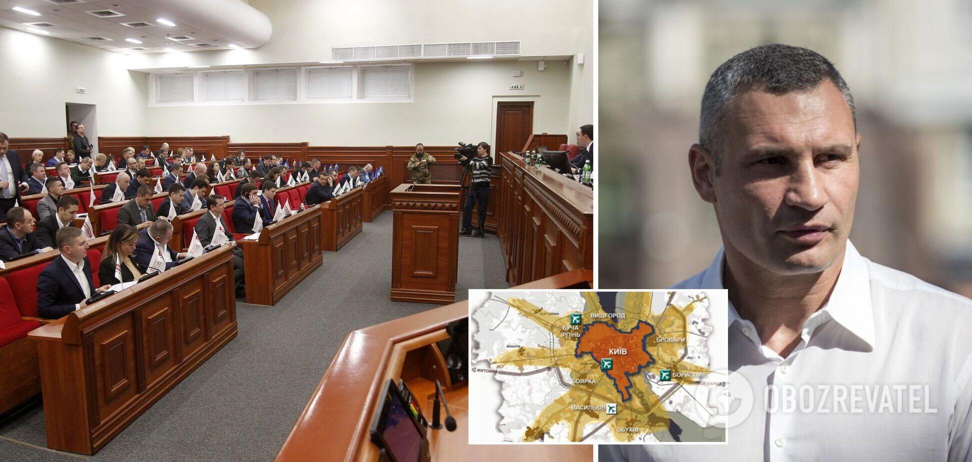 Київрада звернеться до НАБУ, СБУ та ДБР через протиправні спроби змінити межі столиці