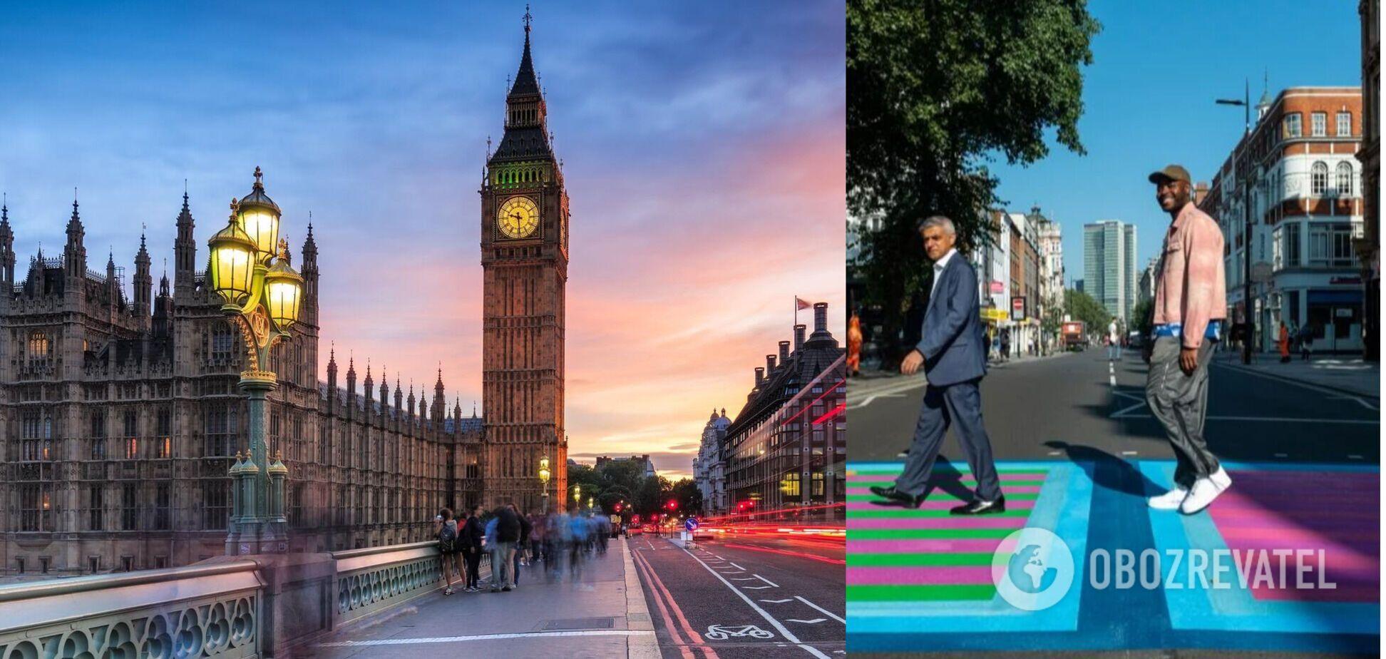 У Лондоні дизайнер розфарбував вулиці: як тепер виглядає місто. Фото