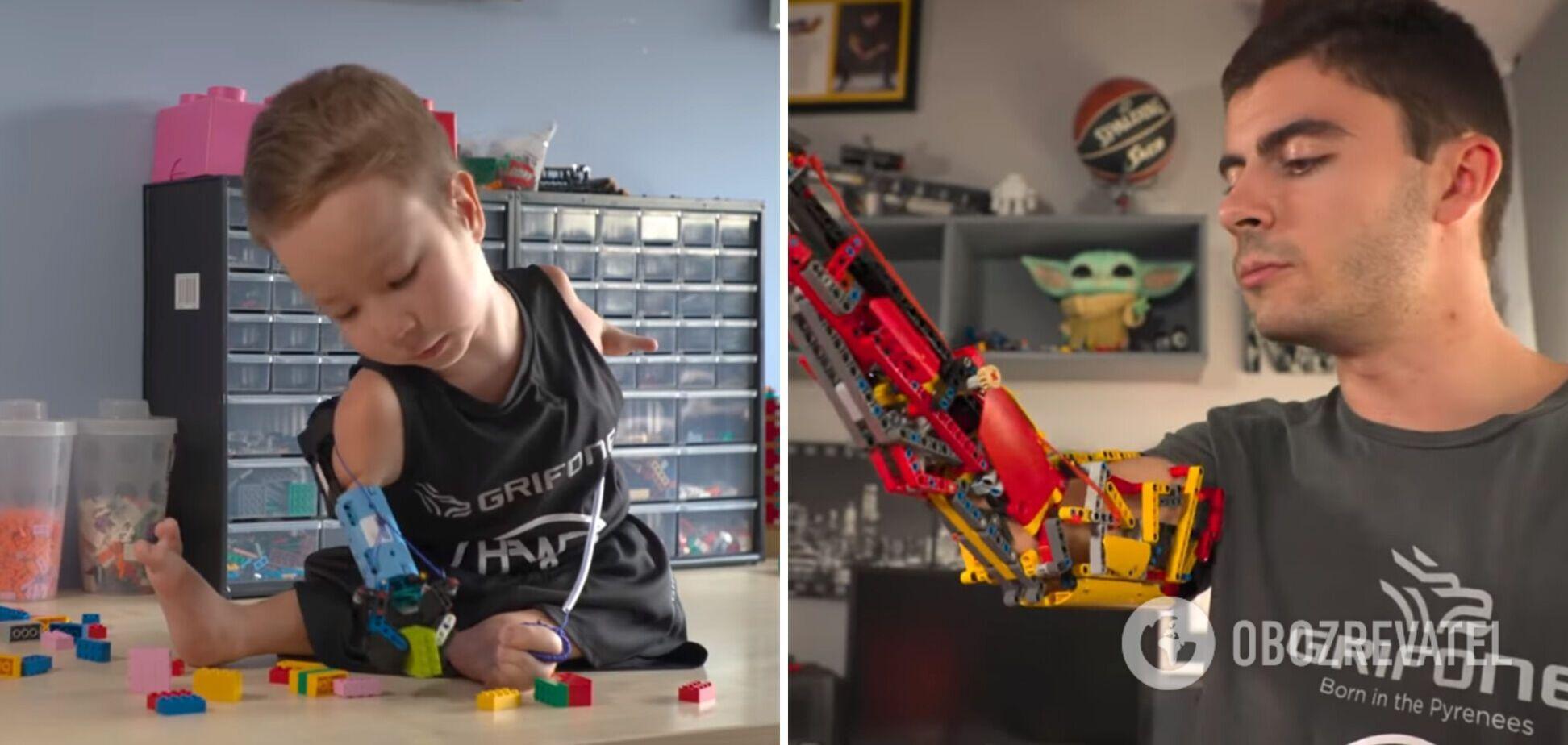 В Испании изобретатель сделал протез для ребенка из деталей конструктора LEGO. Видео