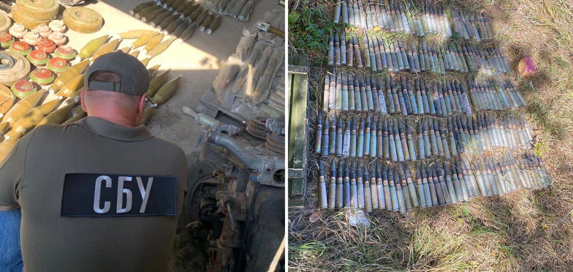 На Донбасі знайшли схрони бойовиків з вибухівкою та мінами: їх могли використовувати для диверсій. Фото