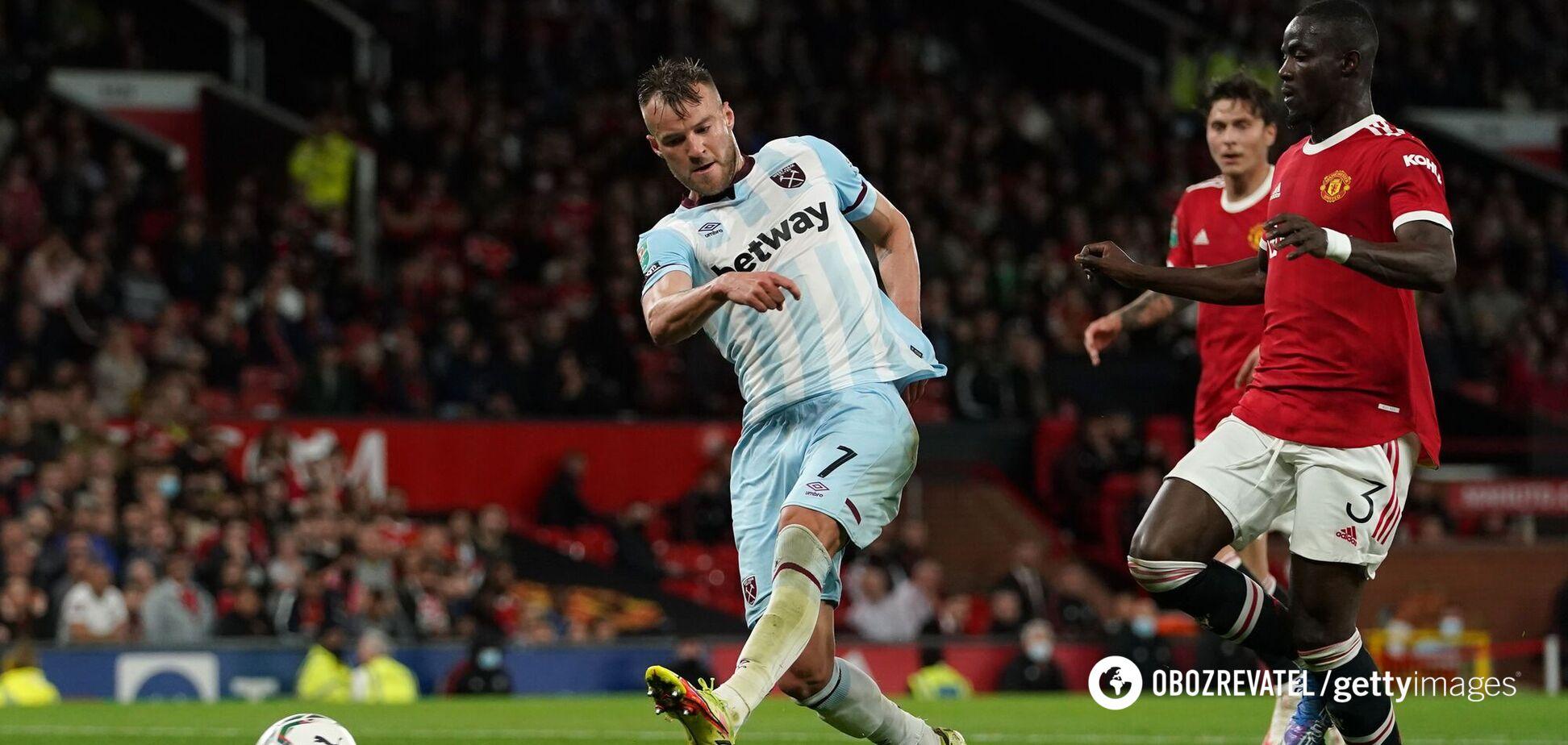 Ярмоленко не влучив по порожніх воротах Манчестер Юнайтед