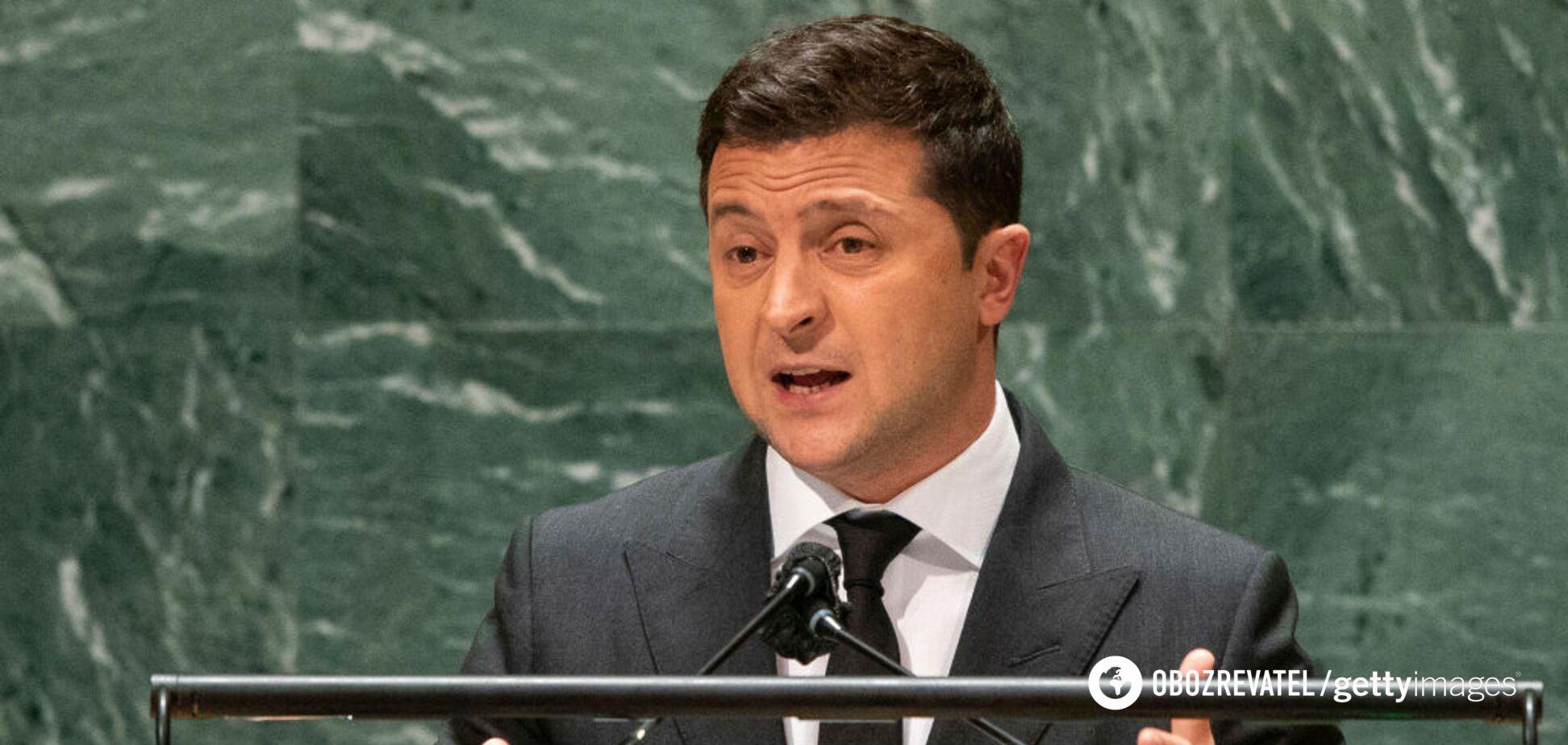 Зеленский во время выступления на Генассамблеи ООН потроллил Россию. Видео