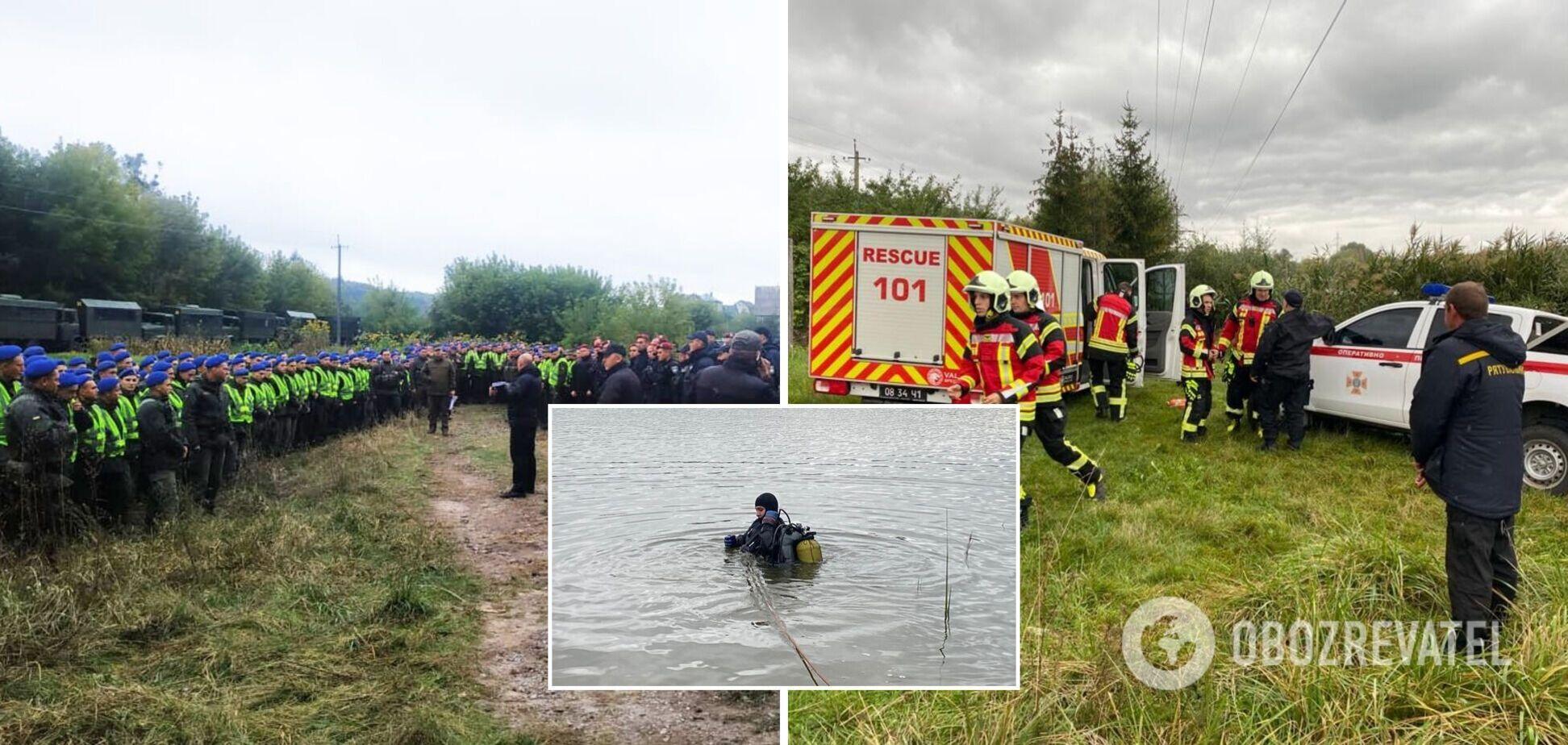 На суше и под водой: полицейские и нацгвардейцы ищут улики на месте покушения на Шефира. Фото и видео