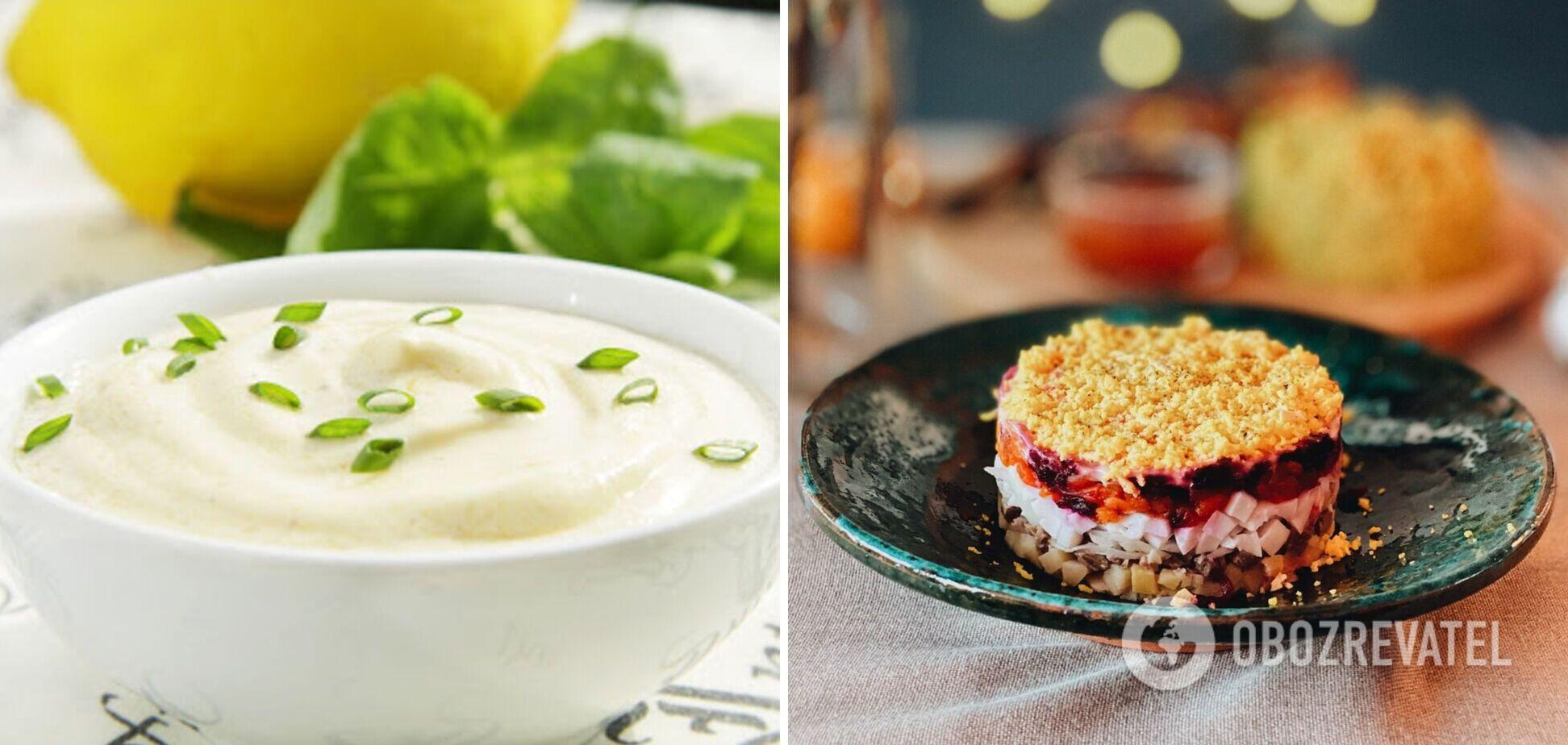 Чем заменить майонез в салате 'Шуба' – 2 варианта