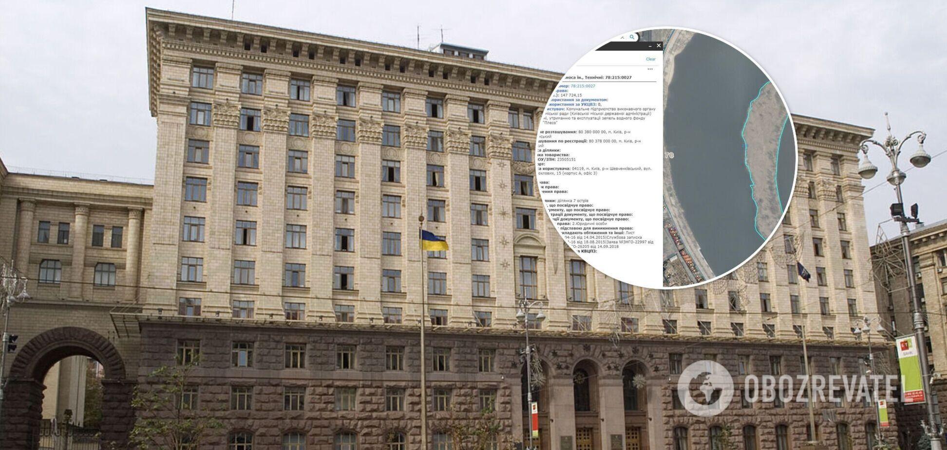 Все острова Киева находятся в коммунальной собственности