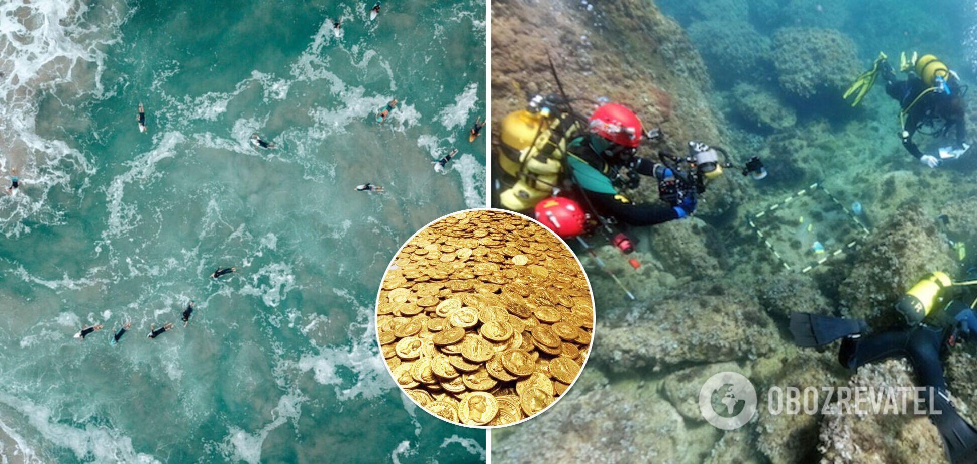 В Испании дайверы обнаружили клад золотых монет на дне моря. Фото