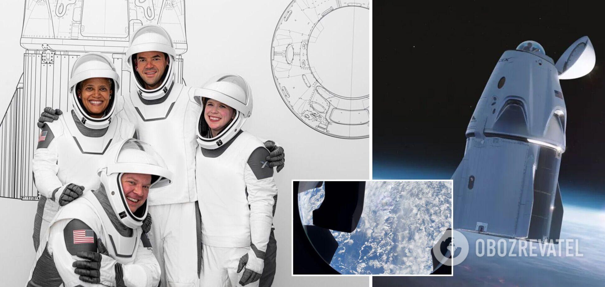Учасники місії Inspiration4 показали вид на Землю через вікно Crew Dragon. Відео