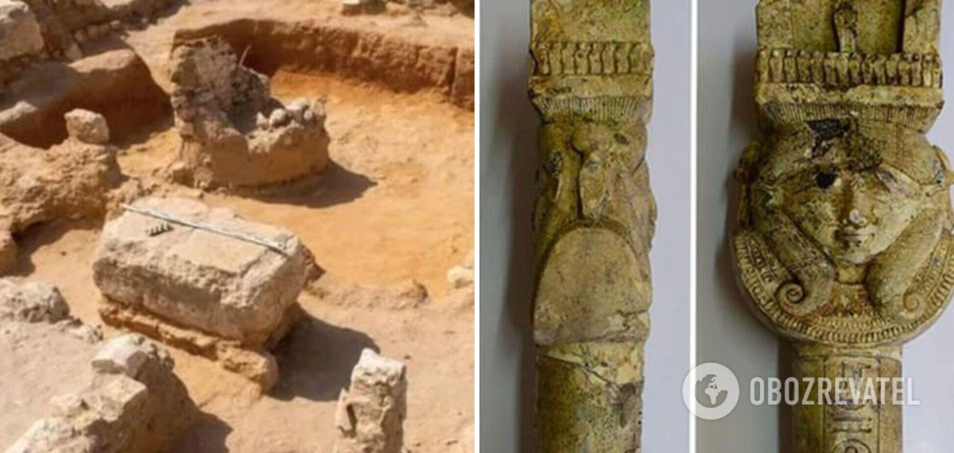 Археологи обнаружили в Египте ритуальные инструменты и золотой глаз. Фото