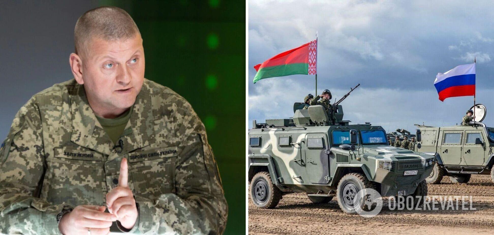 Російські війська після навчань із Білоруссю залишилися поблизу кордонів України, – Залужний