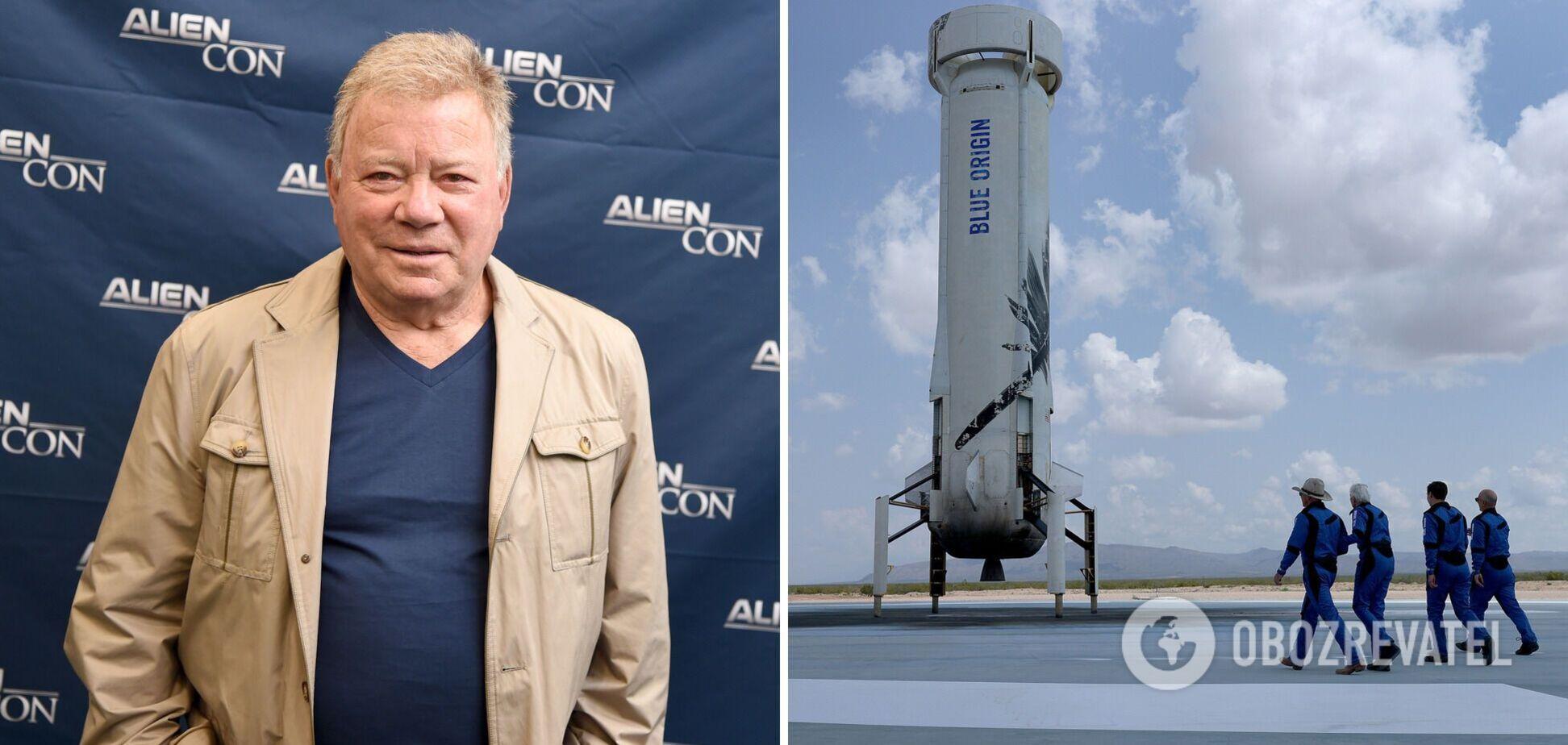 Зірка серіалу 'Зоряний шлях' стане космічним туристом на кораблі Безоса