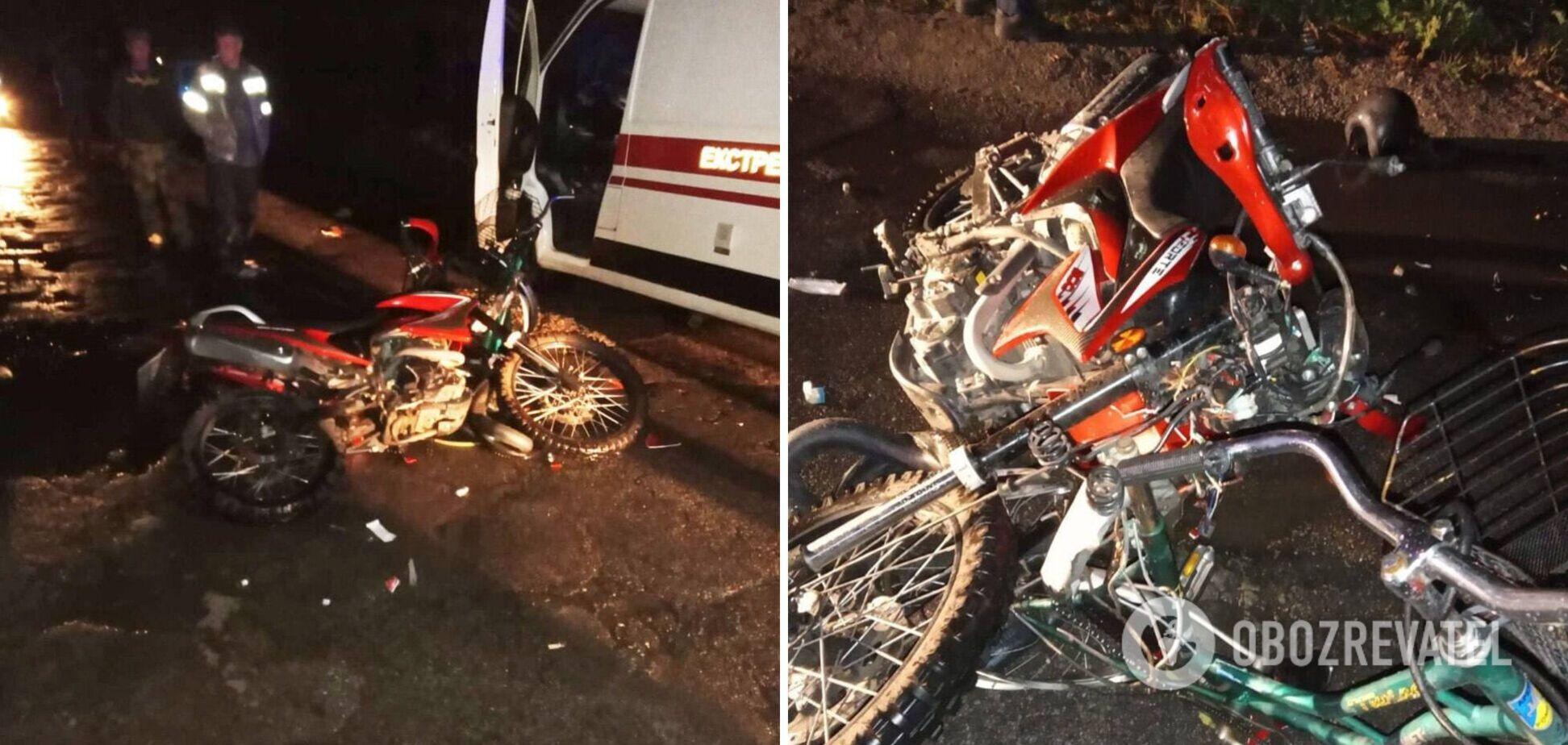 На Київщині 16-річний мотоцикліст збив велосипедистку: жінка померла в лікарні. Фото