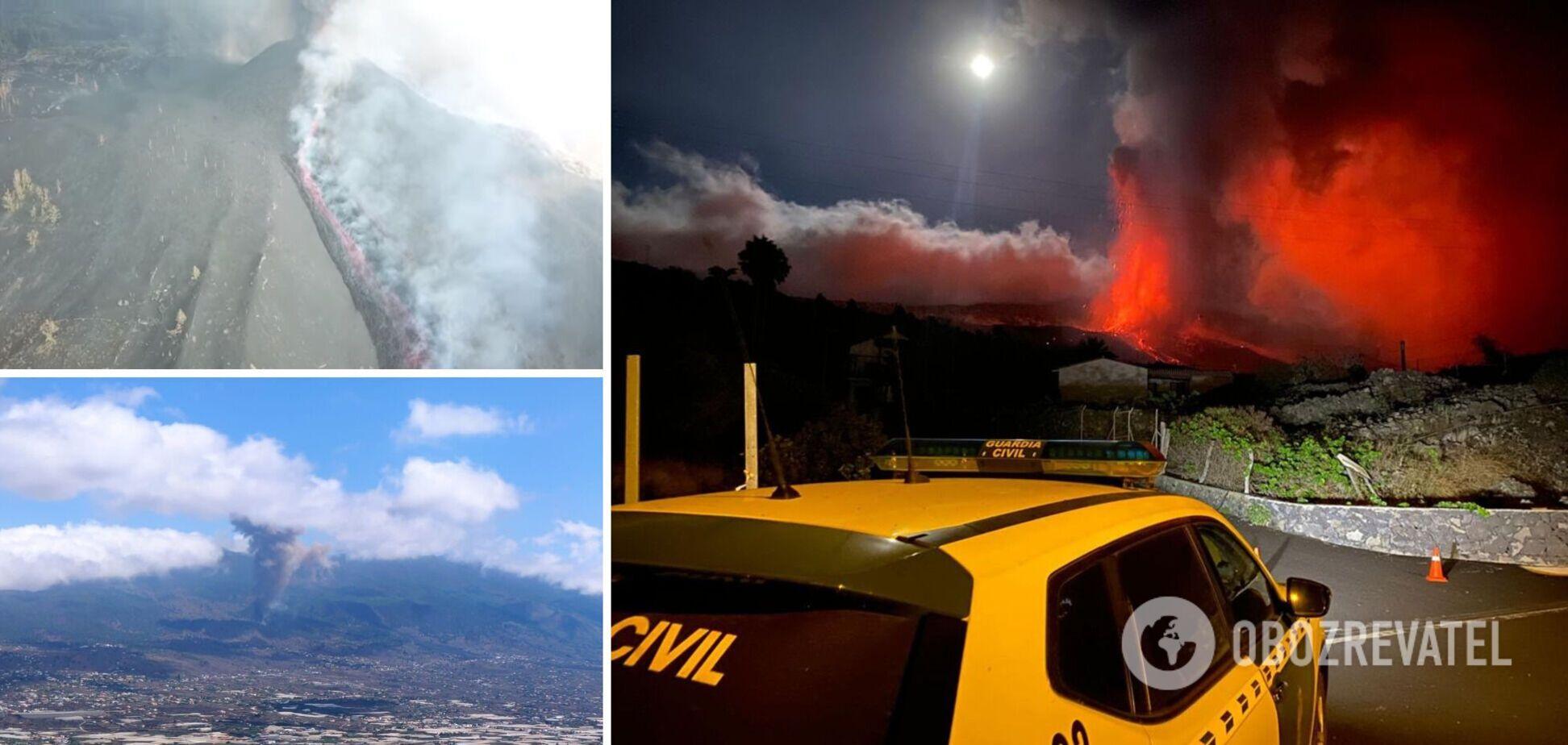 Активизация вулкана на острове Пальма