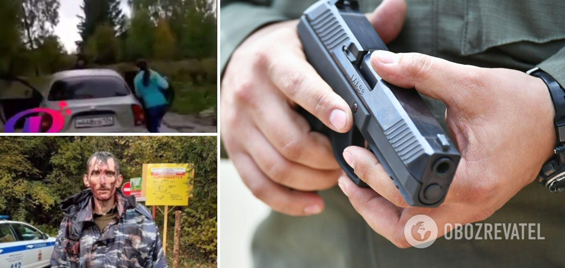 В России экс-наемник 'ДНР' похитил двух детей на глазах у их отца, угрожая оружием. Видео