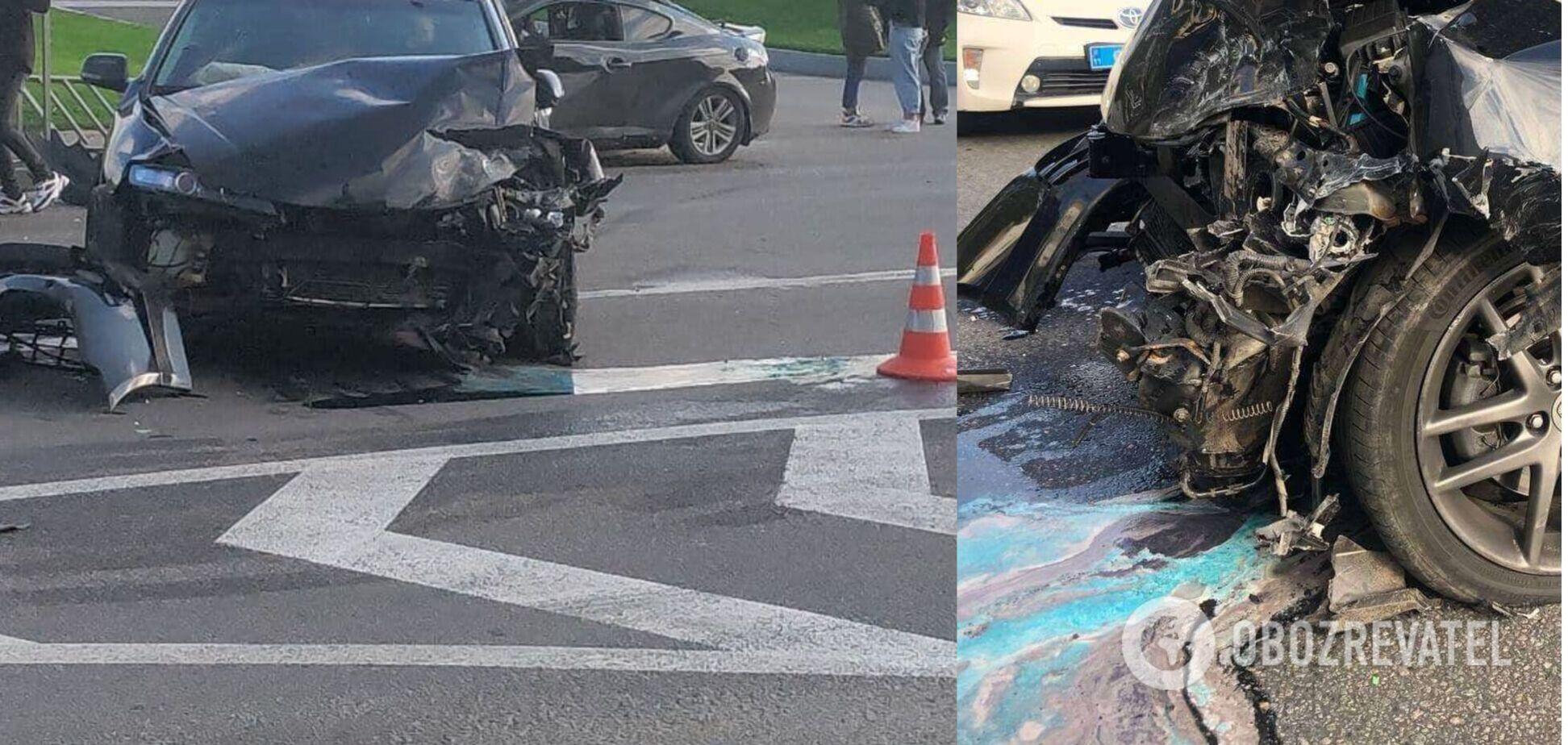 В Днепре авто на скорости влетело в легковушку: двое пострадавших. Фото и видео