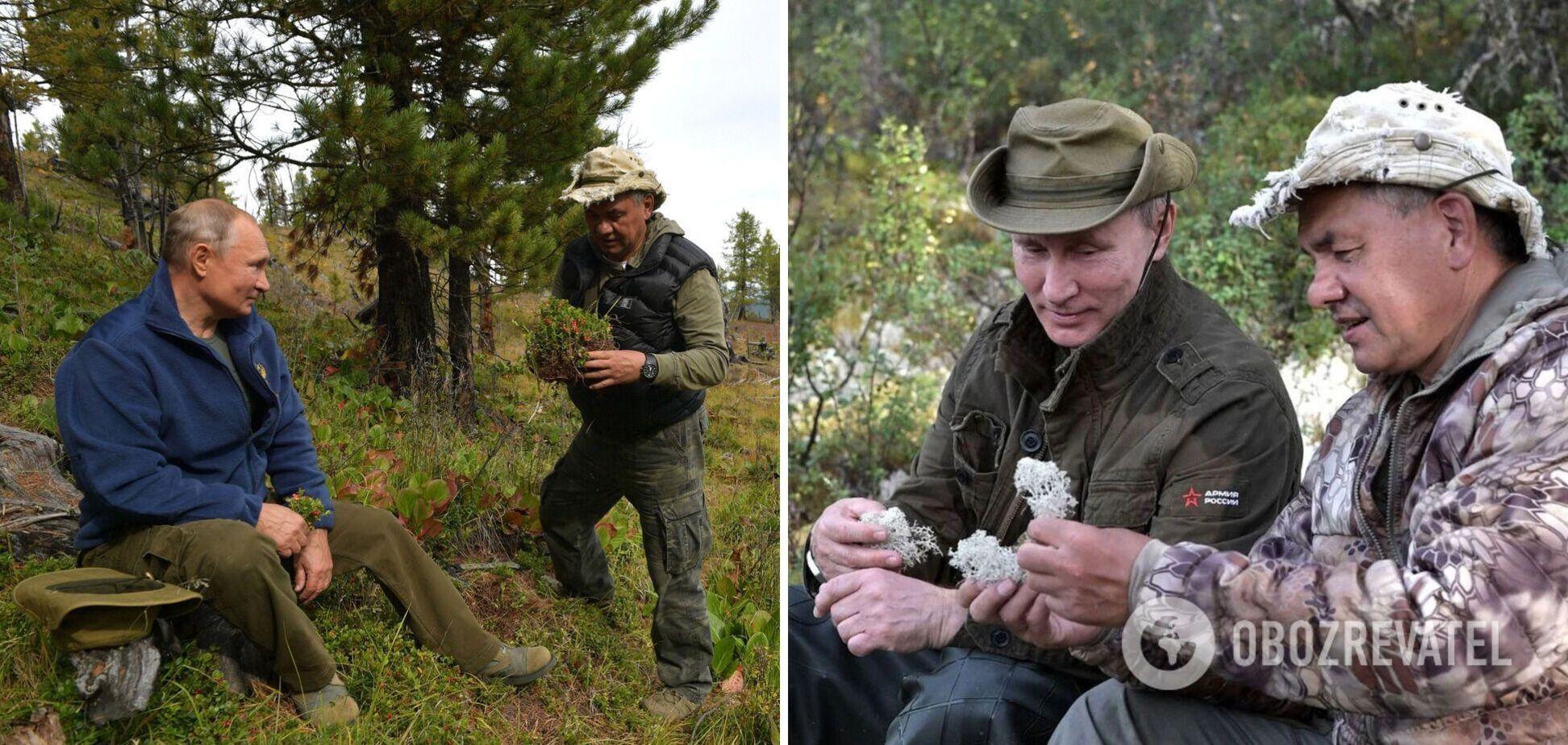 Путін і Шойгу провели ніч у тайзі
