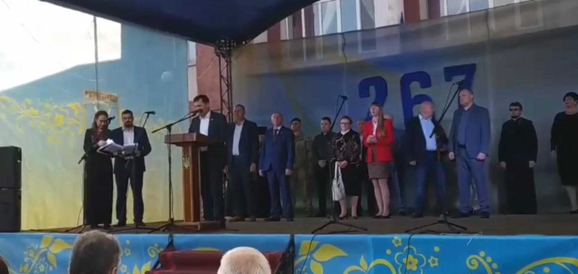 Мэр Кодымы феерично выступил перед громадой на День города