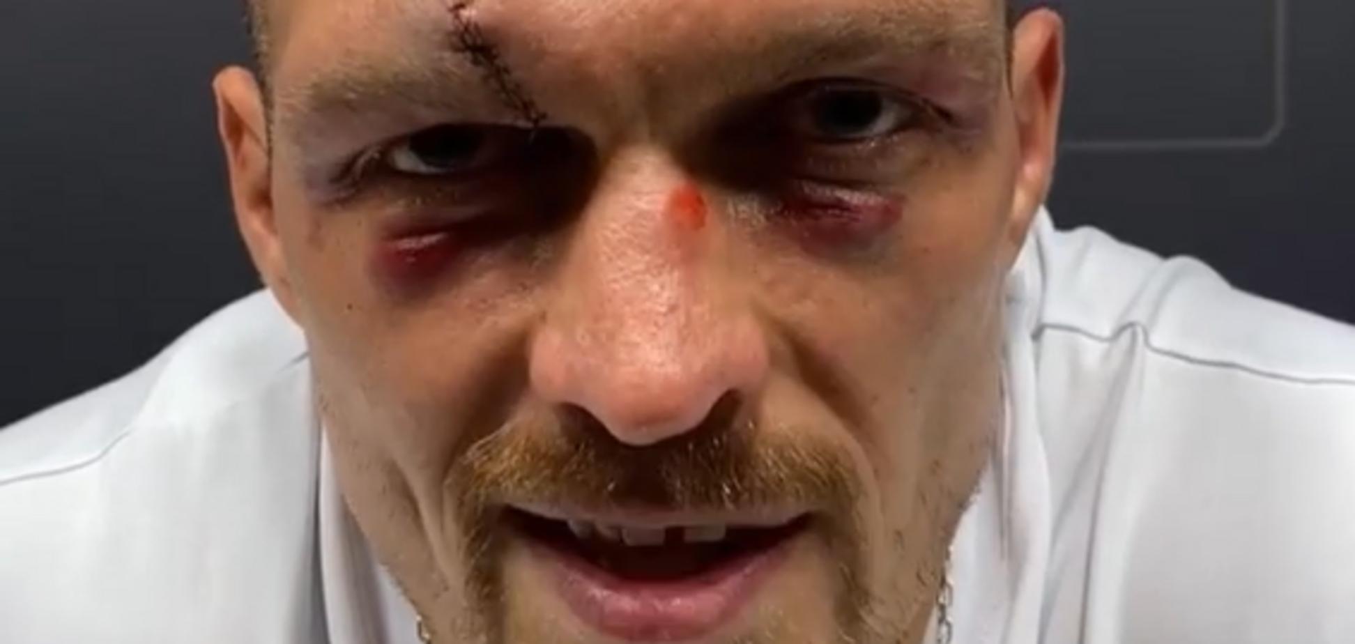 Первое видео Усика после победы над Джошуа