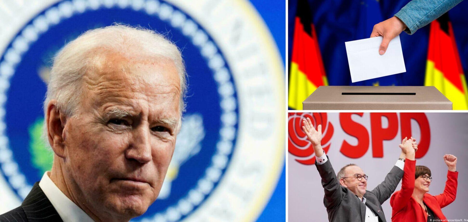 Байден про перемогу соціал-демократів на виборах у Німеччині: чорт забирай, а вони стійкі