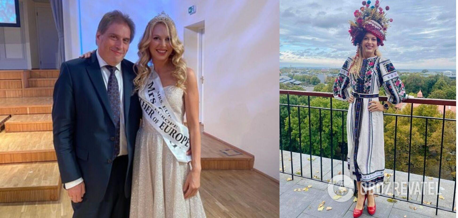 40-летняя украинка стала самой красивой мамой в Европе. Фото
