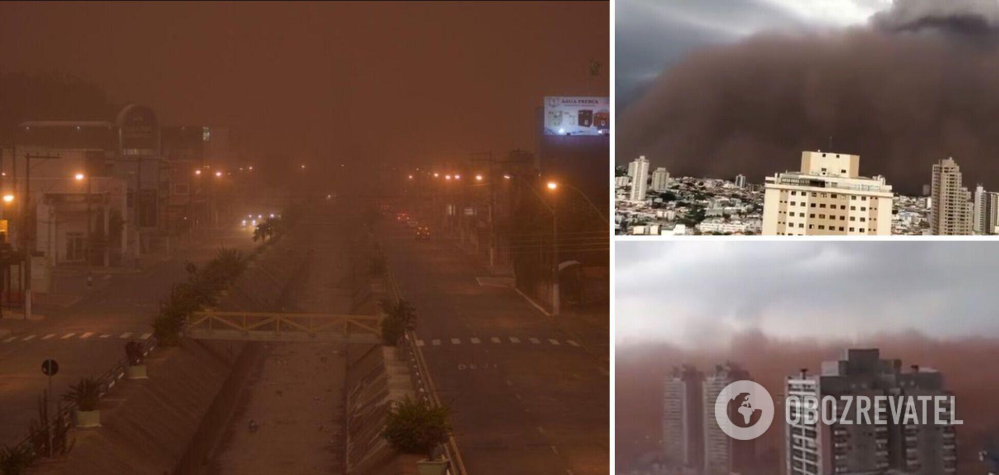 У Бразилії піщана буря поглинула ціле місто. Фото та відео