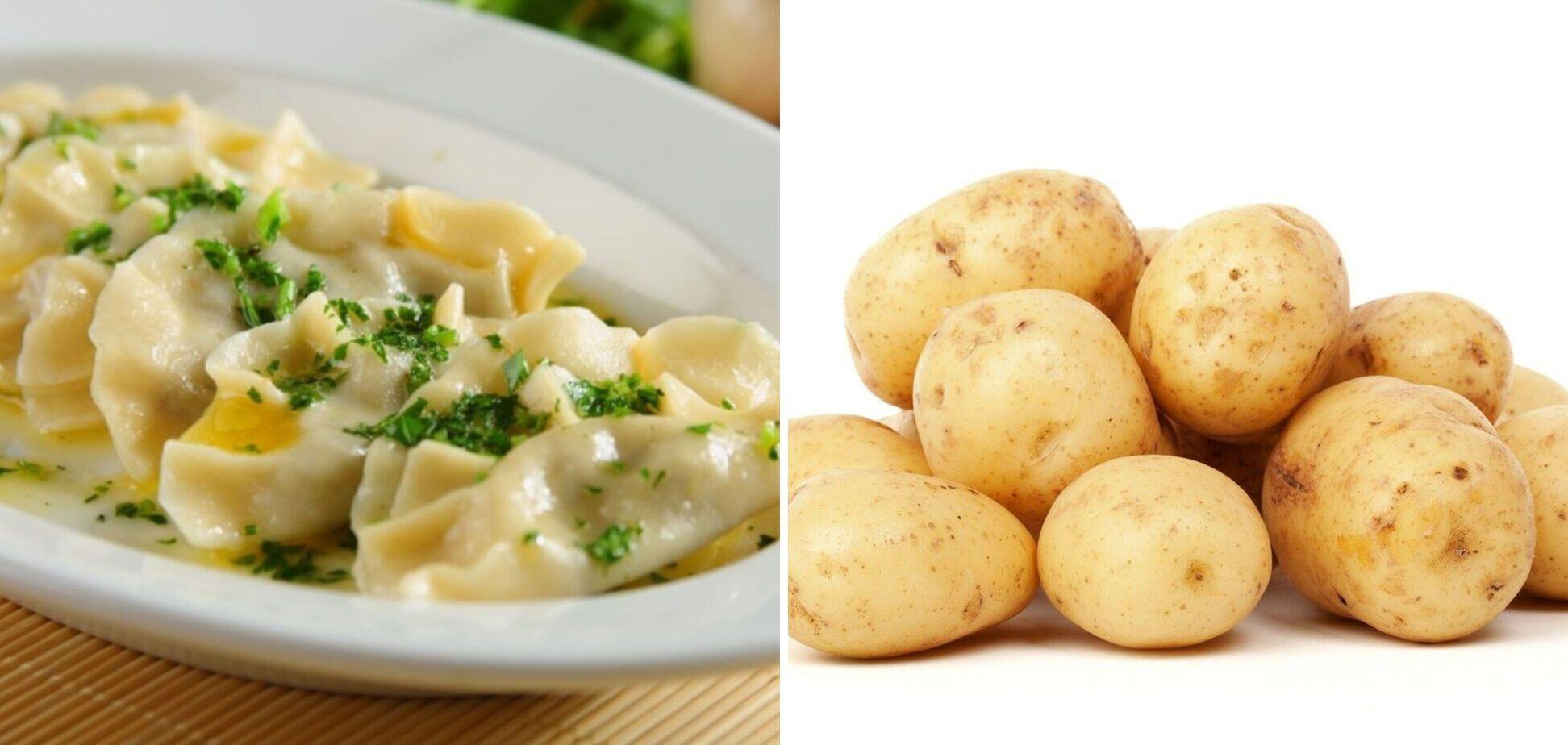 Вкусные вареники с картошкой на скорую руку