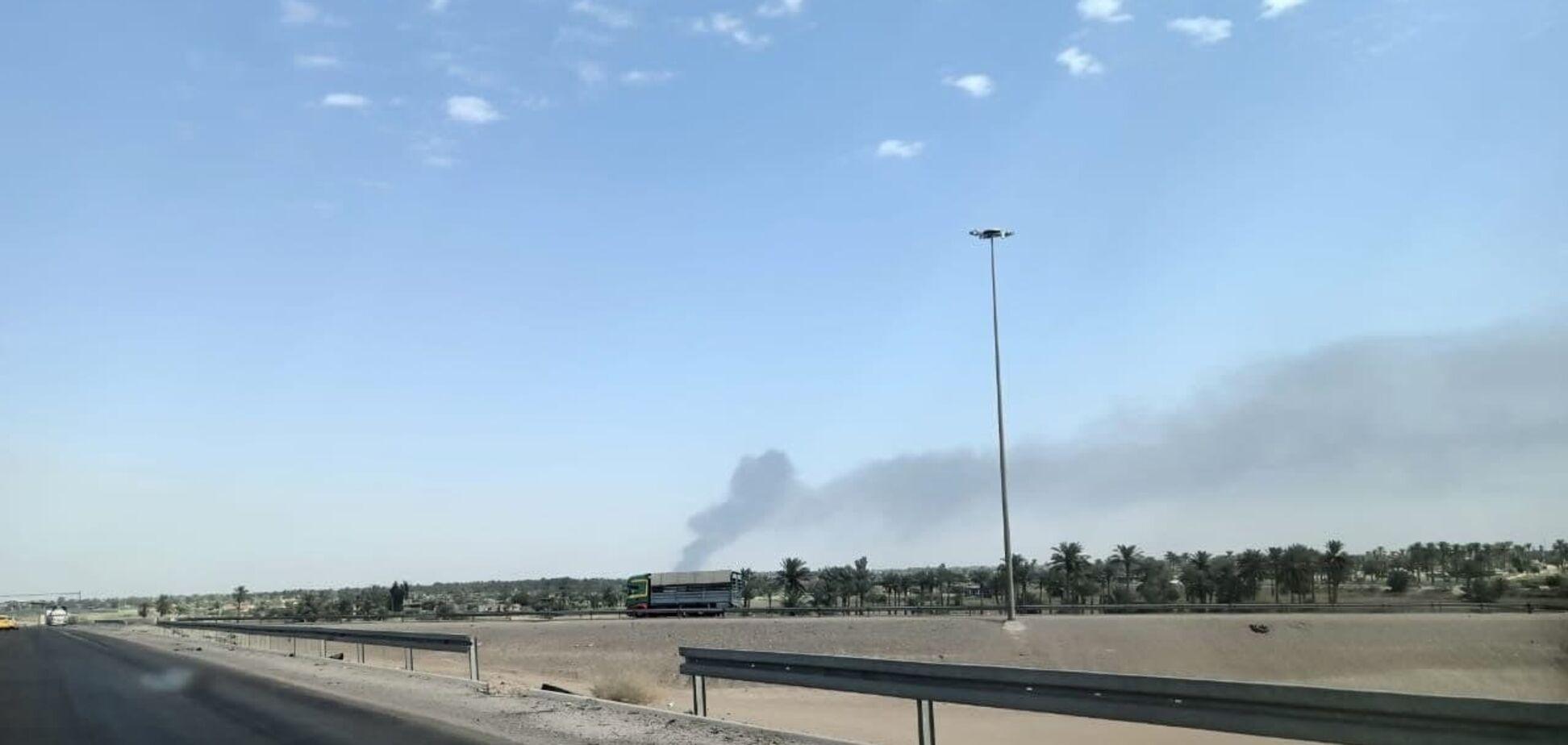 В Ираке вспыхнул пожар на военной базе около аэропорта
