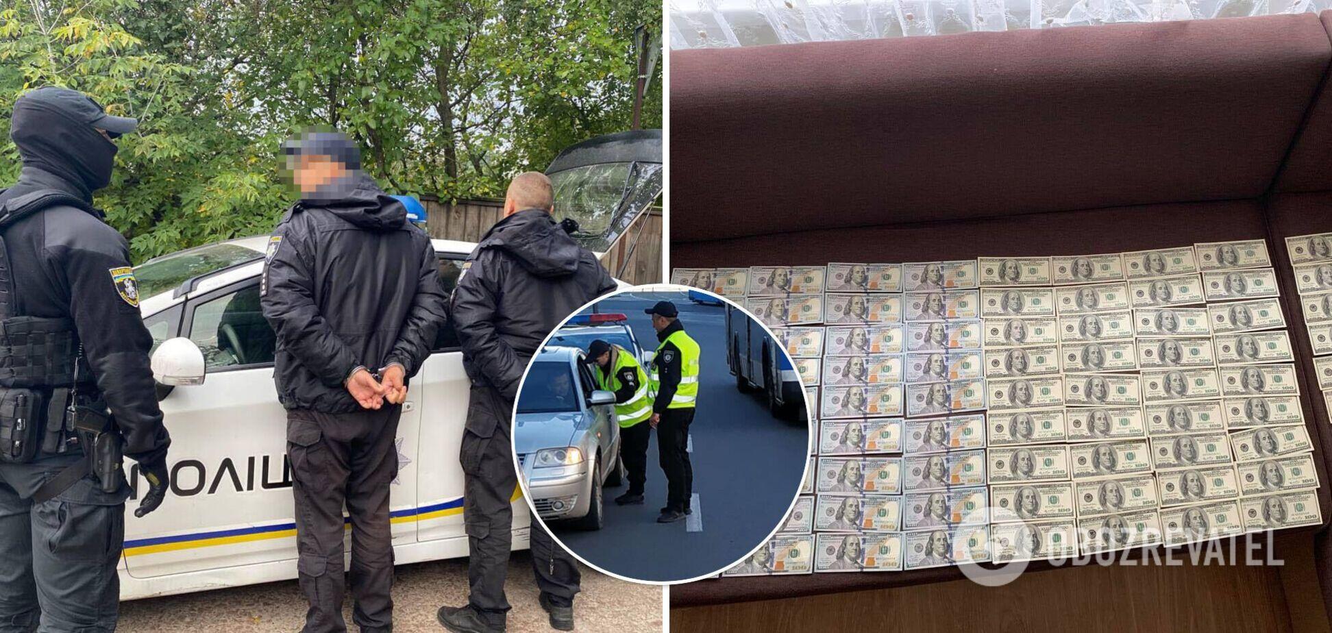 В Прилуках задержали полицейских, которые ежедневно 'зарабатывали' до $500 на нетрезвых водителях. Фото